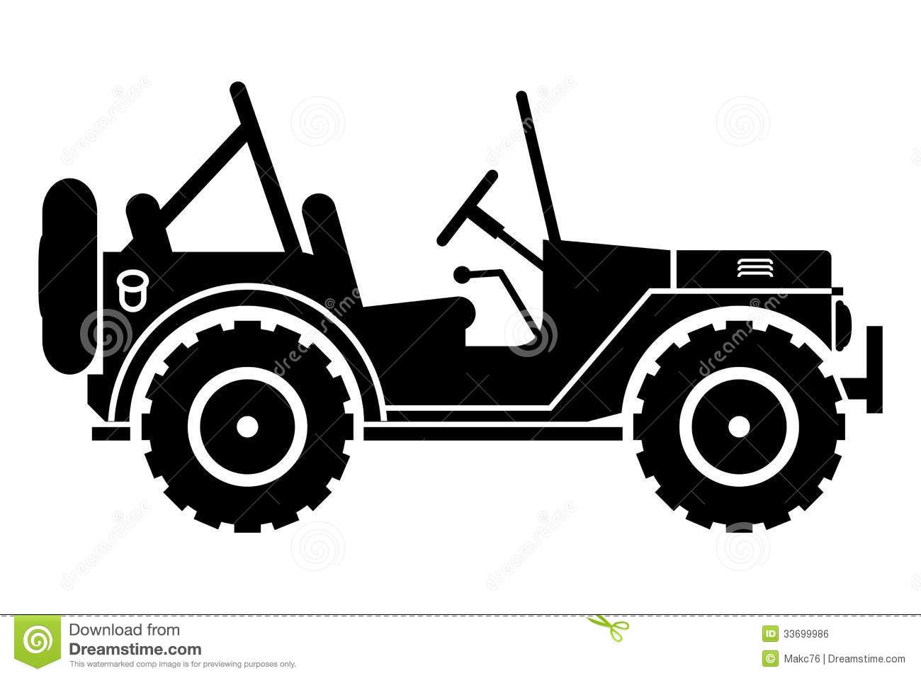 Jeep Silhouette. Royalty Free Stock Image - Image: 33699986