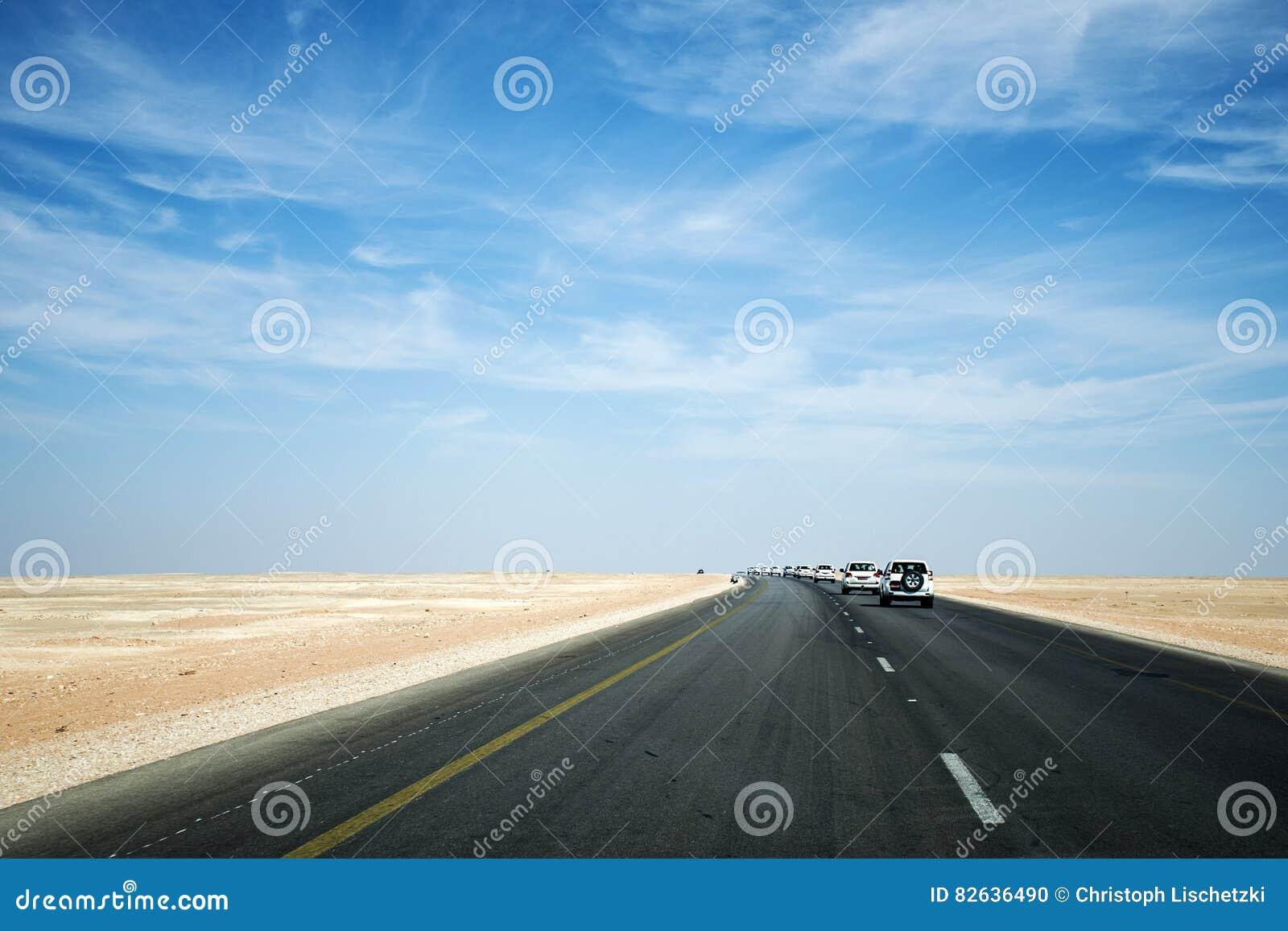 Jeep Tour safari road in the desert Oman Salalah