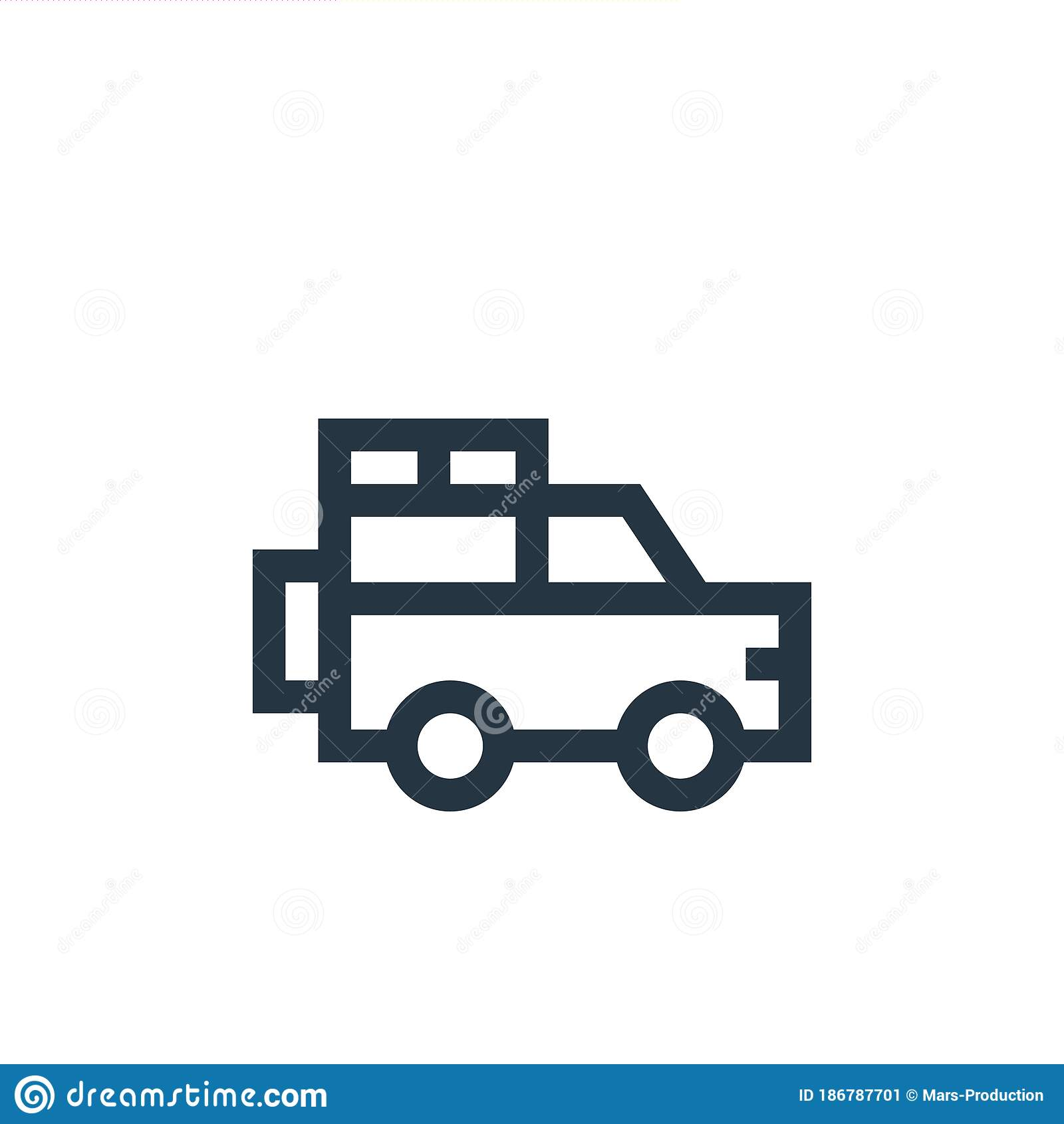 Jeep Vector Icon Jeep Editable Stroke Jeep Linear Symbol For Use On Web And Mobile Apps Logo Print Media Thin Line Stock Vector Illustration Of Wagon Speed 186787701