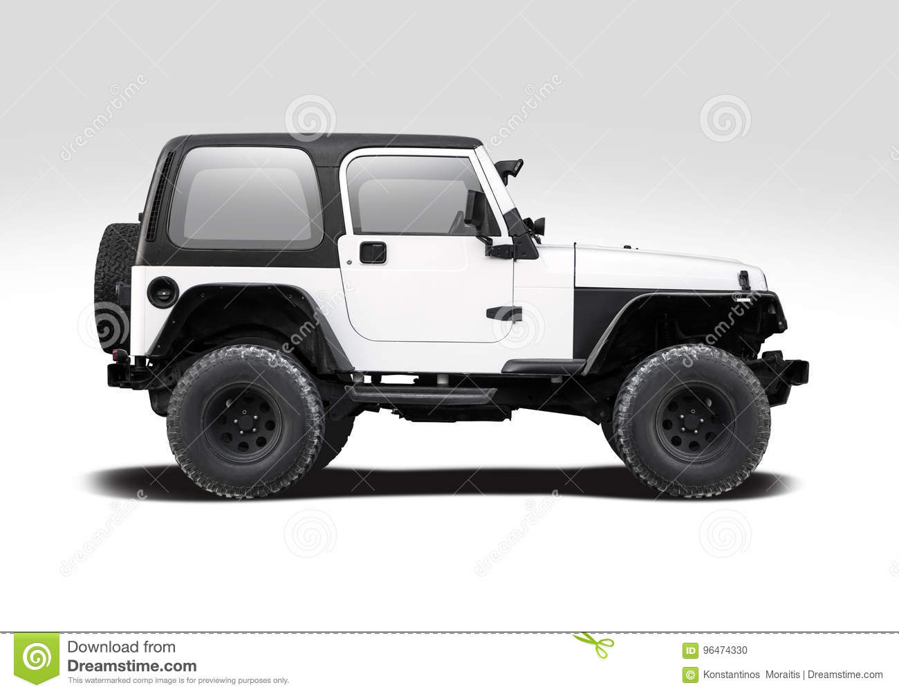 jeep wrangler isolated