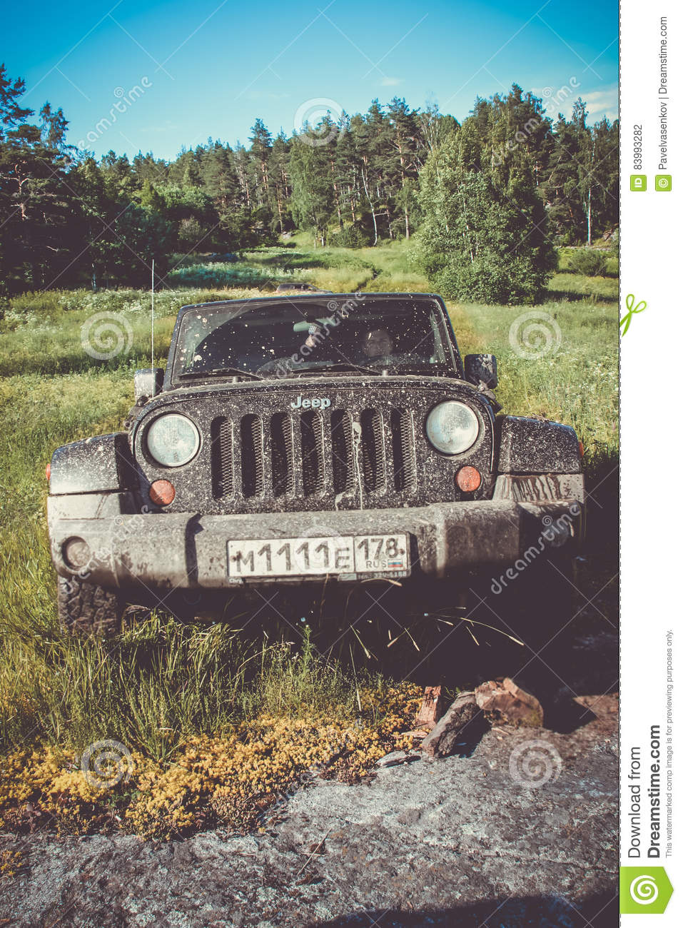 Jeep Wrangler Rubicon Editorial Photography Image Of Chrysler Expedition Leningrad Oblast Russia June 22 2016 Offroad By In The Region Is A Compact Four Wheel Drive Off