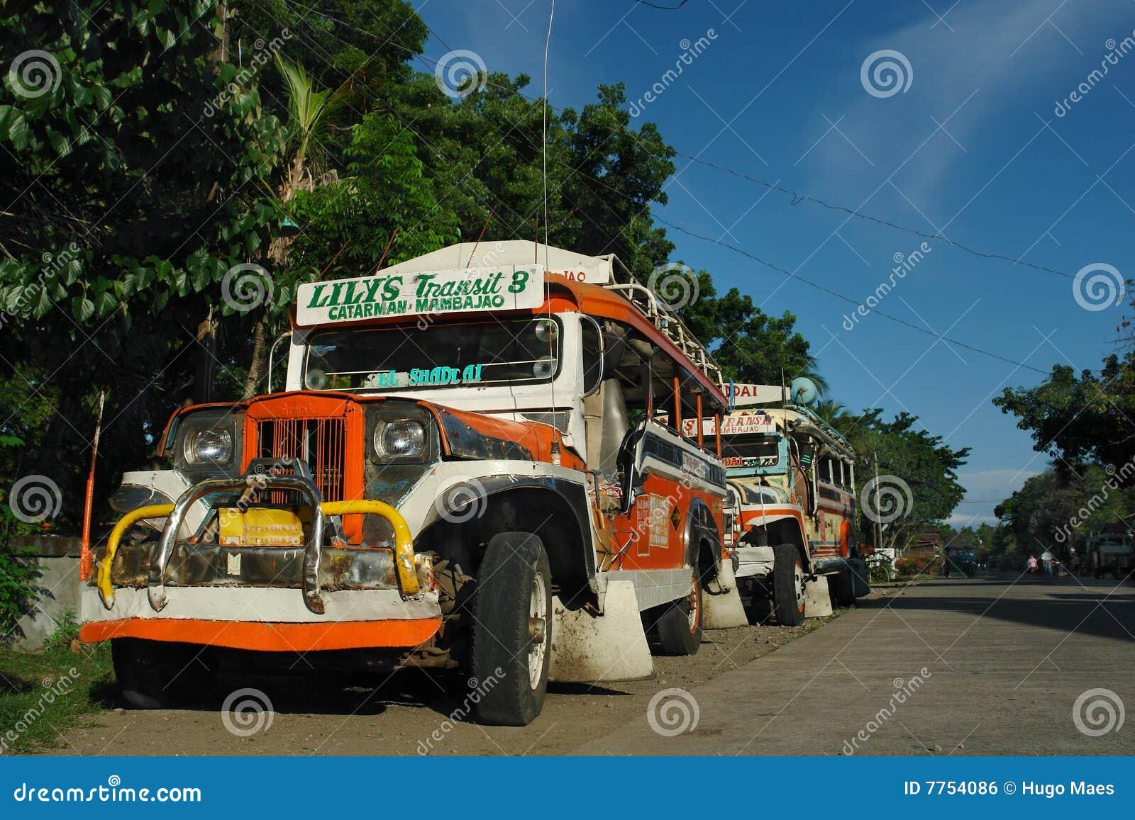 Jeepney parkujący Philippine