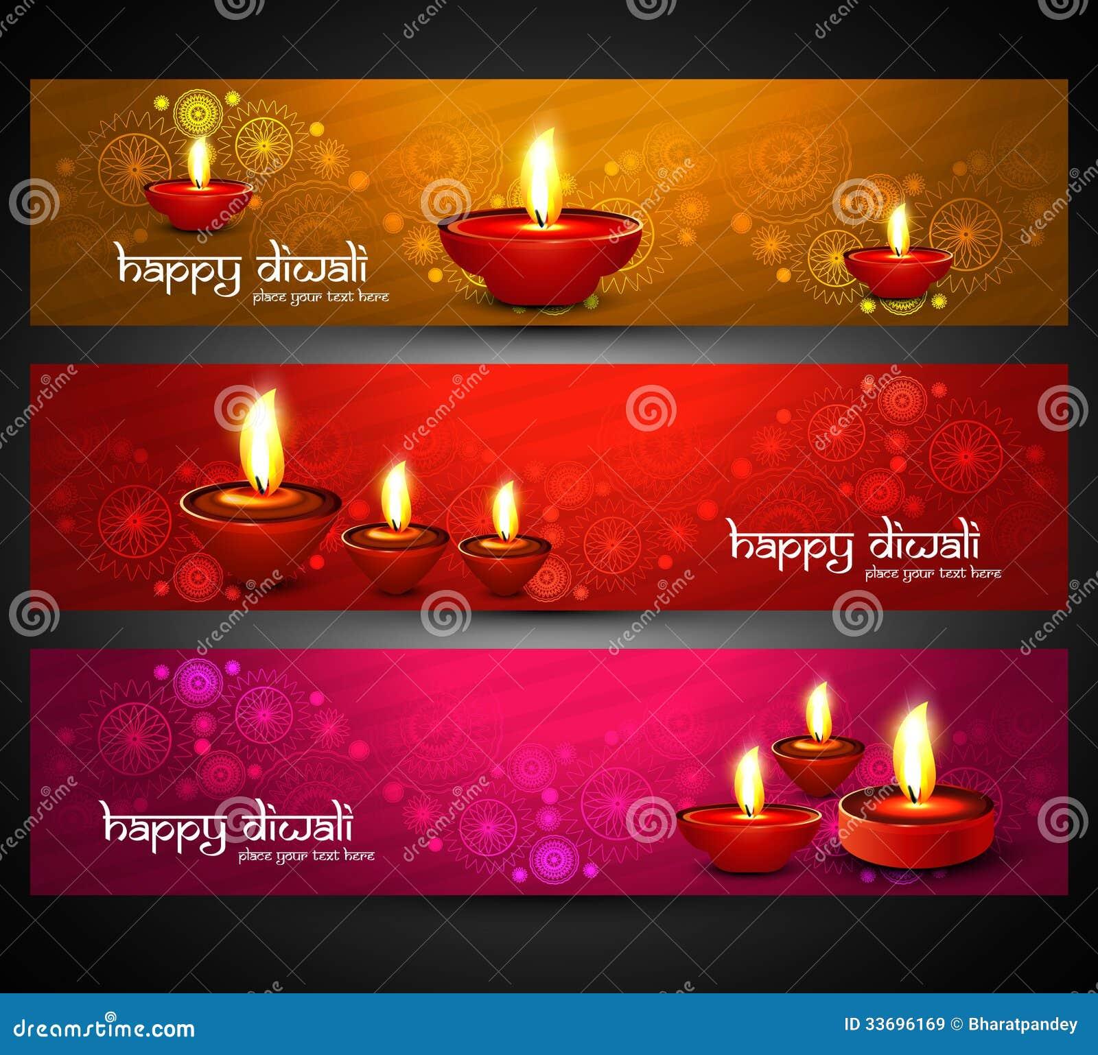 Jefes felices coloridos brillantes religiosos hermosos del diwali fijados