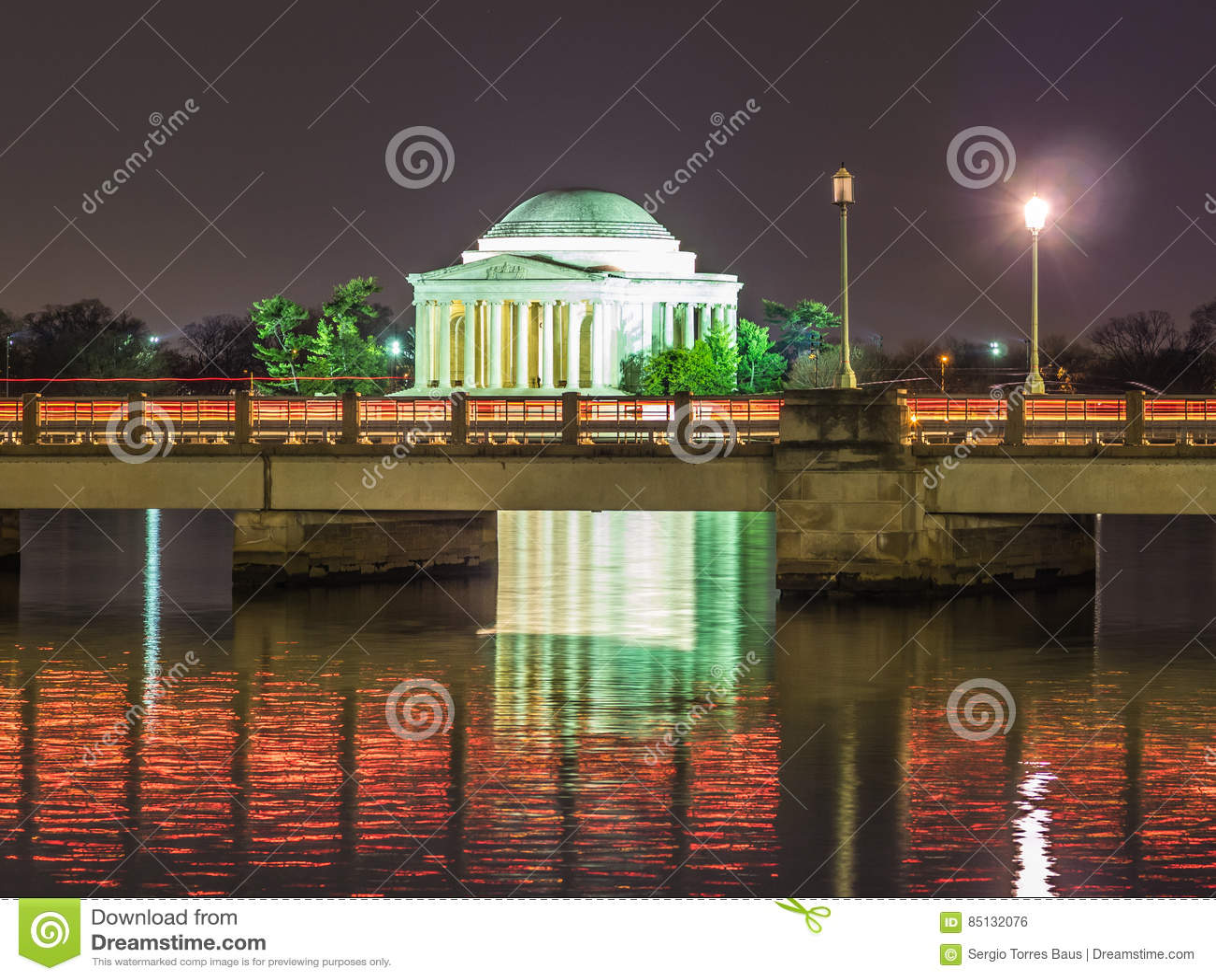 Jefferson Memorial na noite