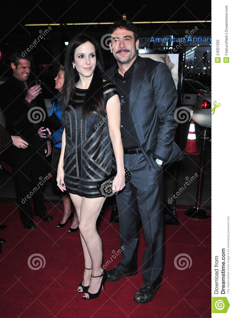 Jeffrey Dean Morgan  amp  girlfriend Mary Louise Parker at the world    Jeffrey Dean Morgan And Mary Louise Parker