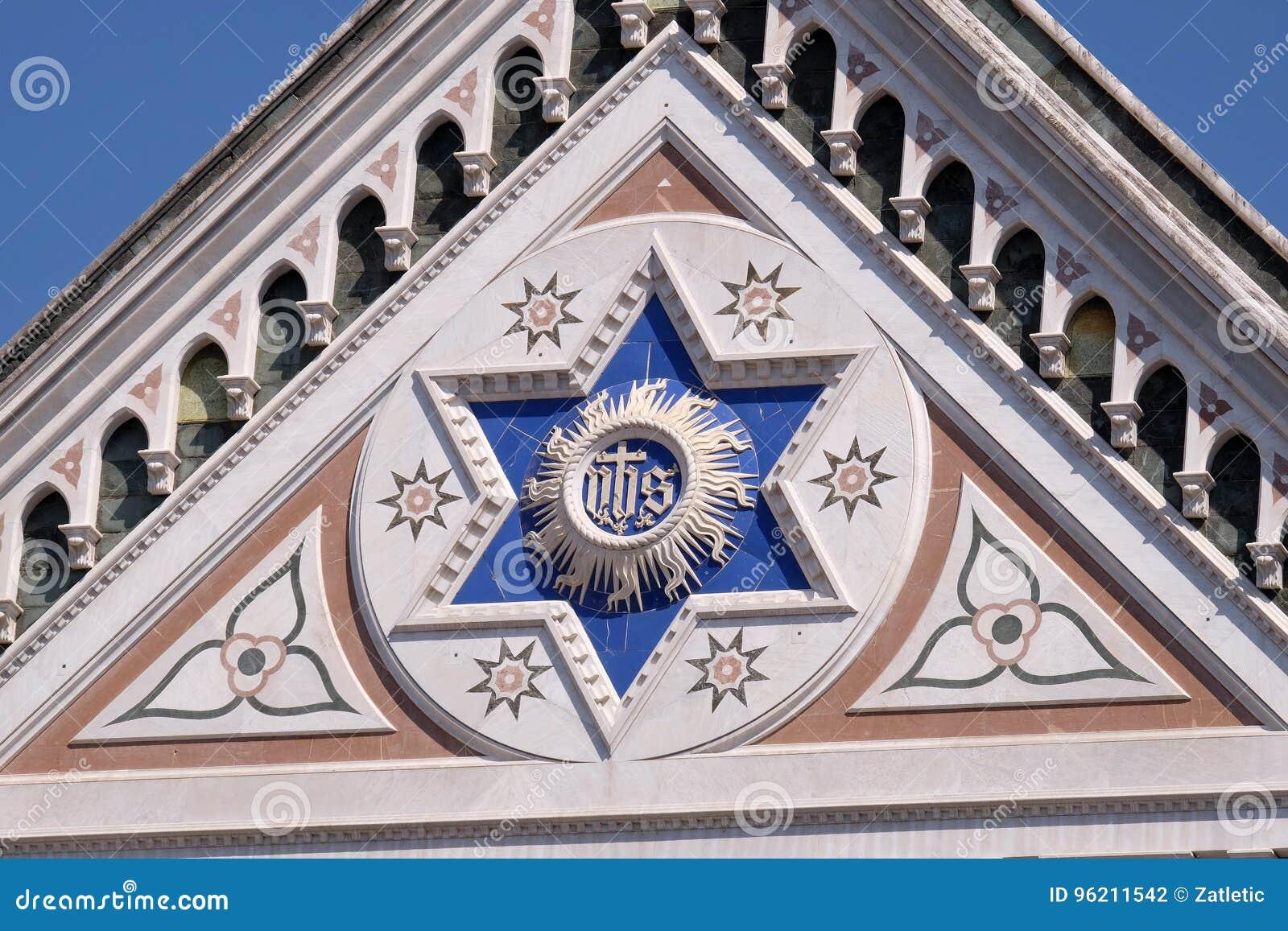 JEGO szyldowy bazyliki Di Santa Croce bazylika Święty Przecinający kościół w Florencja, Włochy