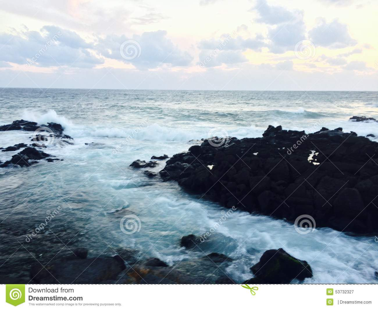 Jeju Island Beach Stock Photo  Image: 53732327