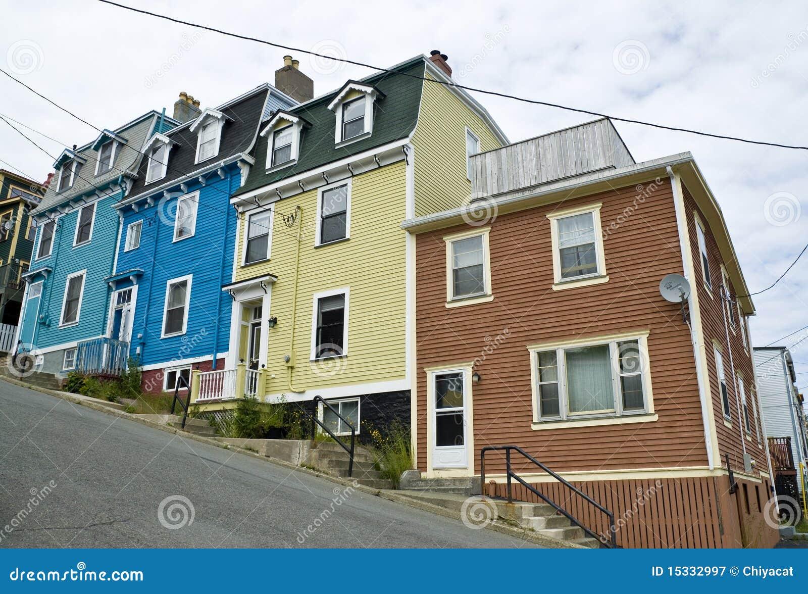 Jelly bean row houses st john 39 s stock image image for Newfoundland houses