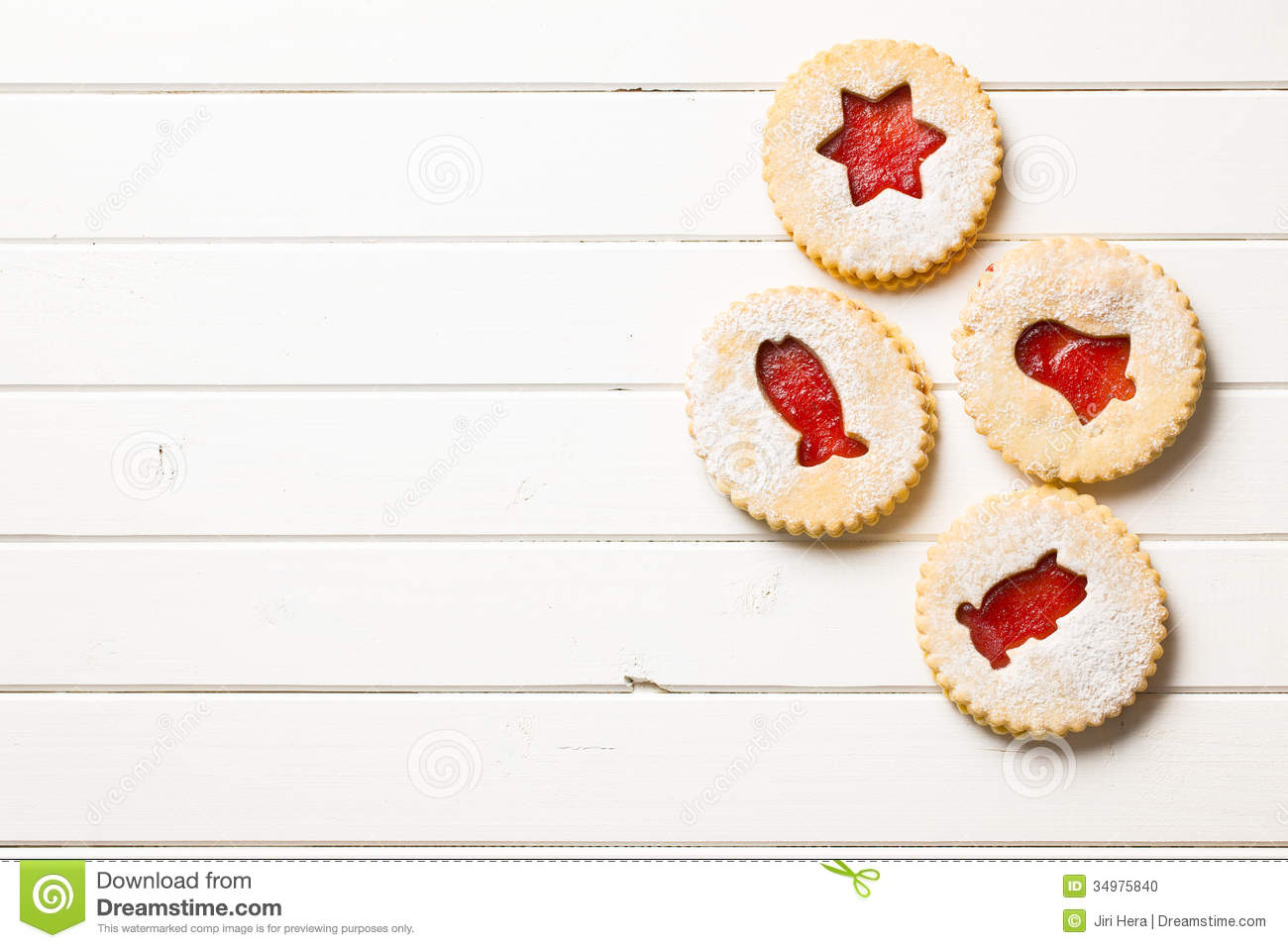 Wood table top view wooden table top view photo - Jelly Christmas Cookies Stock Photo
