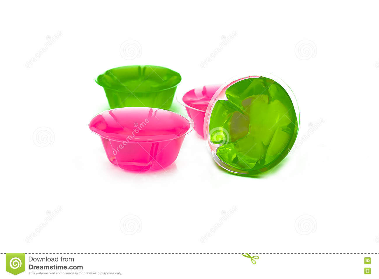 Jelly Pink And Green Stock Image Image Of Graphics Jello 74303653
