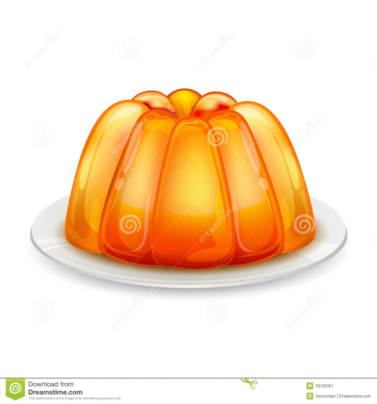 Jelly On Plate Stock Image Image 18120351