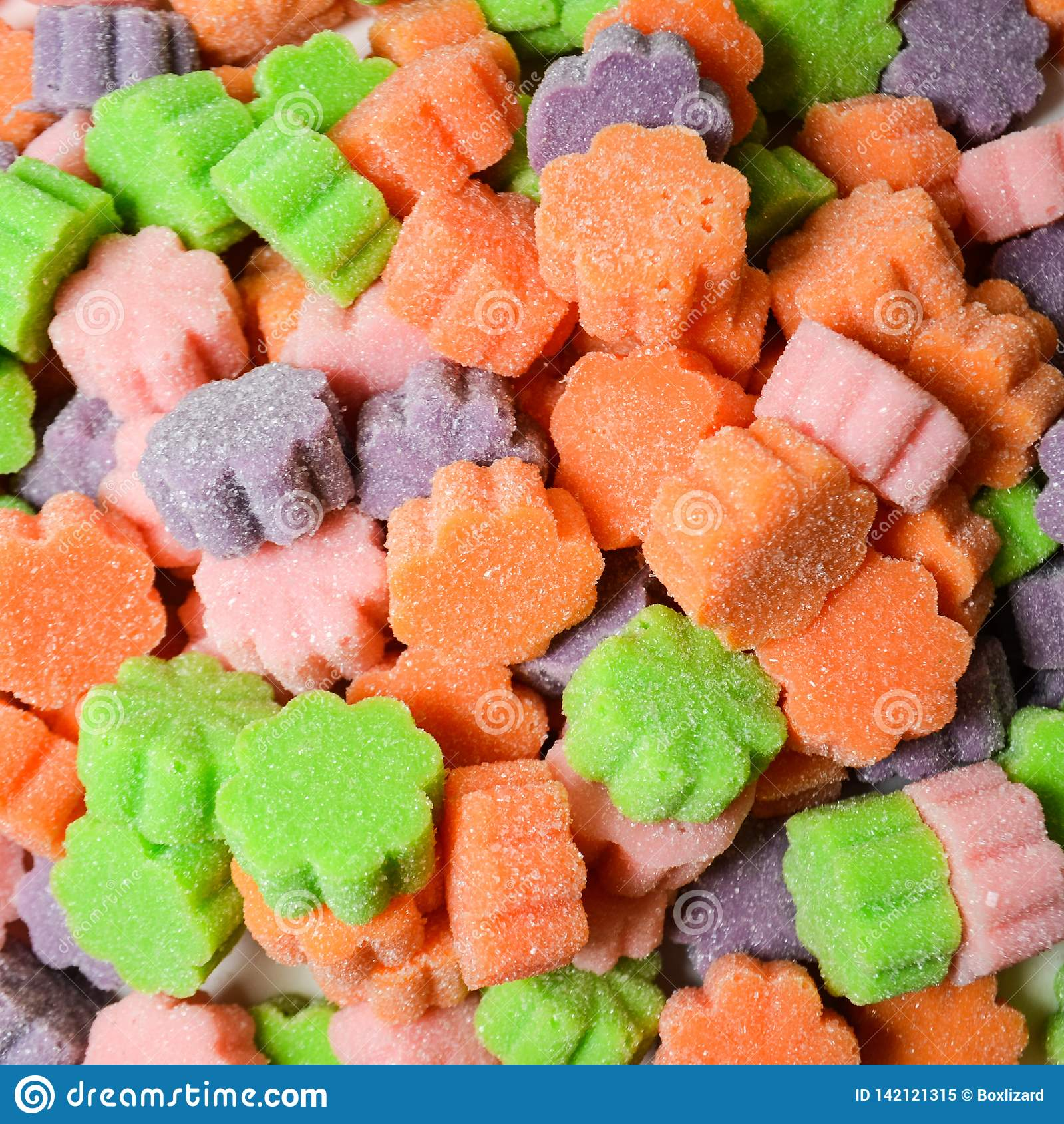 Home-made Sugar-Coated Colorful Gummies