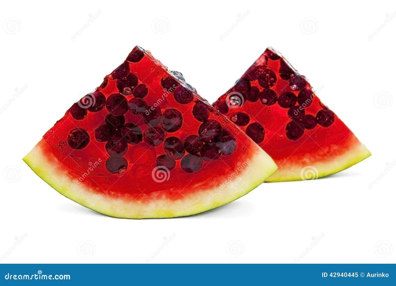 Watermelon Jelly Cake Recipe: Jelly Watermelon Stock Image. Image Of Bilberry, Birthday