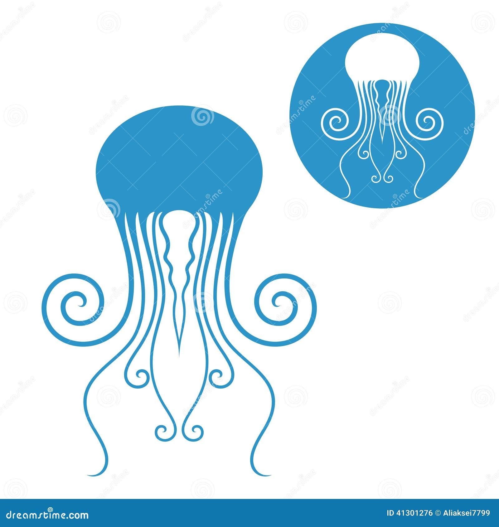 Jellyfish Vector vector jellyfish icon stock vector - image: 41952019