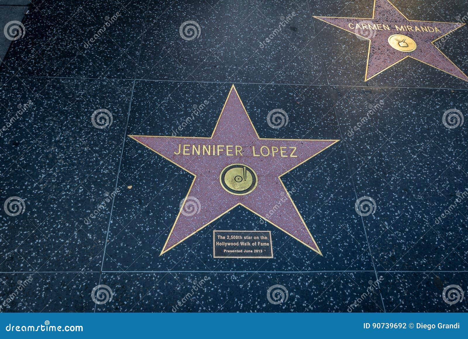 Jennifer Lopez Comemorative Star At Hollywood Walk Of Fame