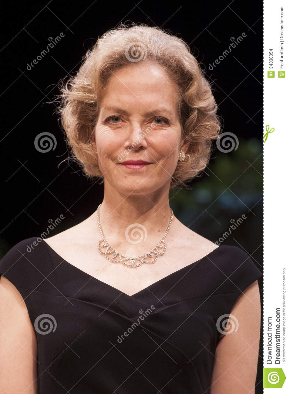 "Jenny Seagrove on stage for the photocall for the play ""Volcano"" at ..."