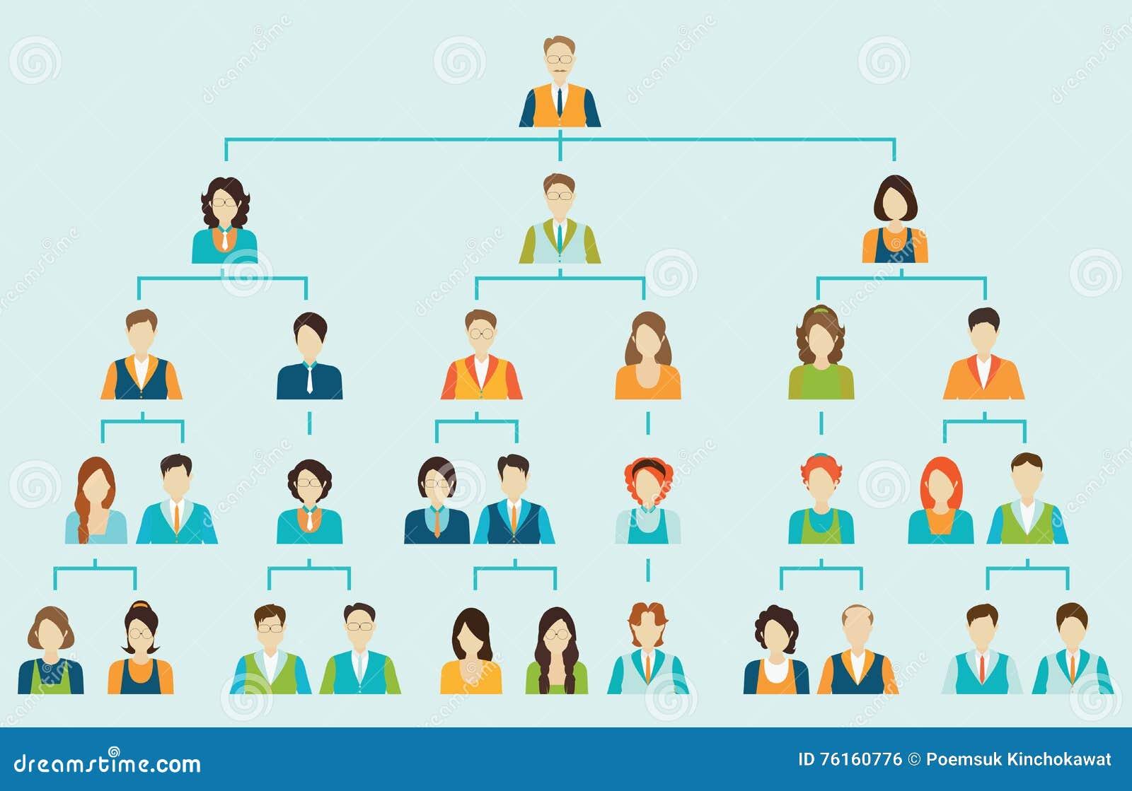 Jerarquía del negocio corporativo de la carta de organización