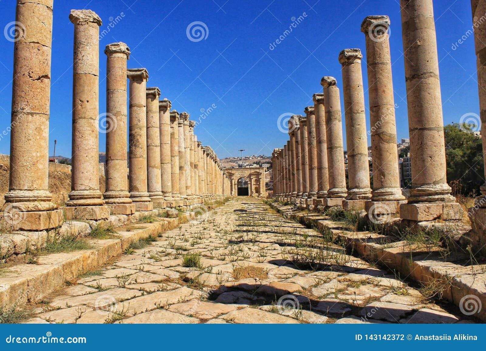 Jerash a cidade de troca antiga de Gerasa