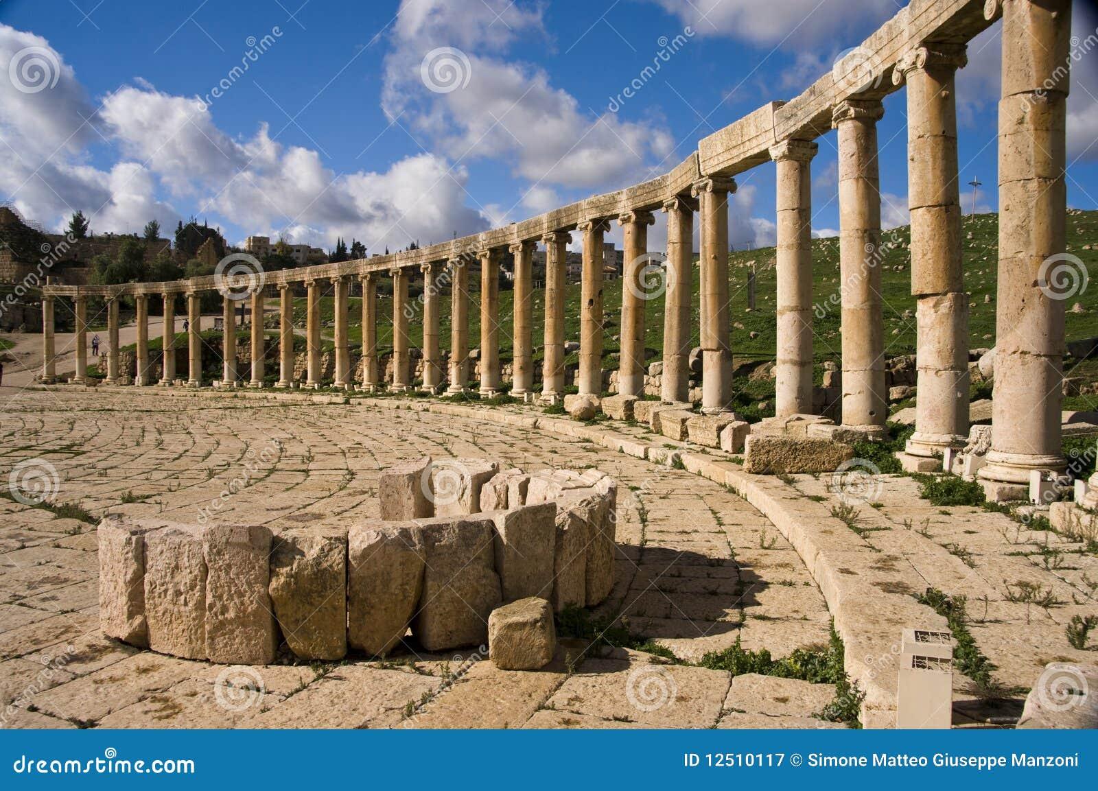 Jerash columns, Jordan