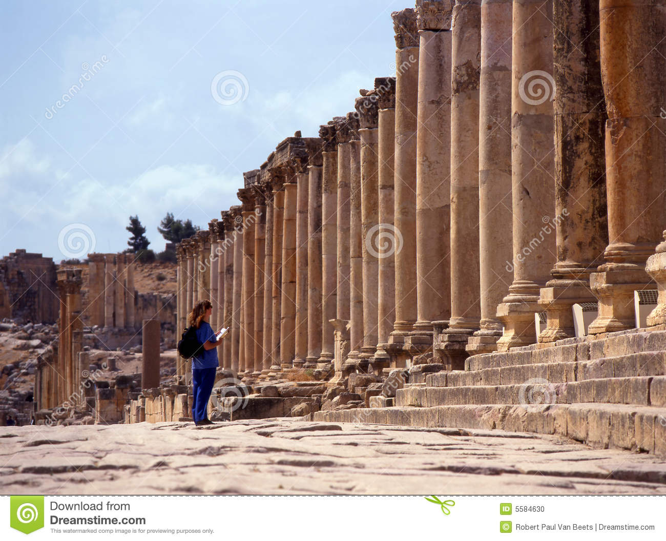 Jerash Jordan  city photos gallery : Jerash, Jordan. Stock Photo Image: 5584630