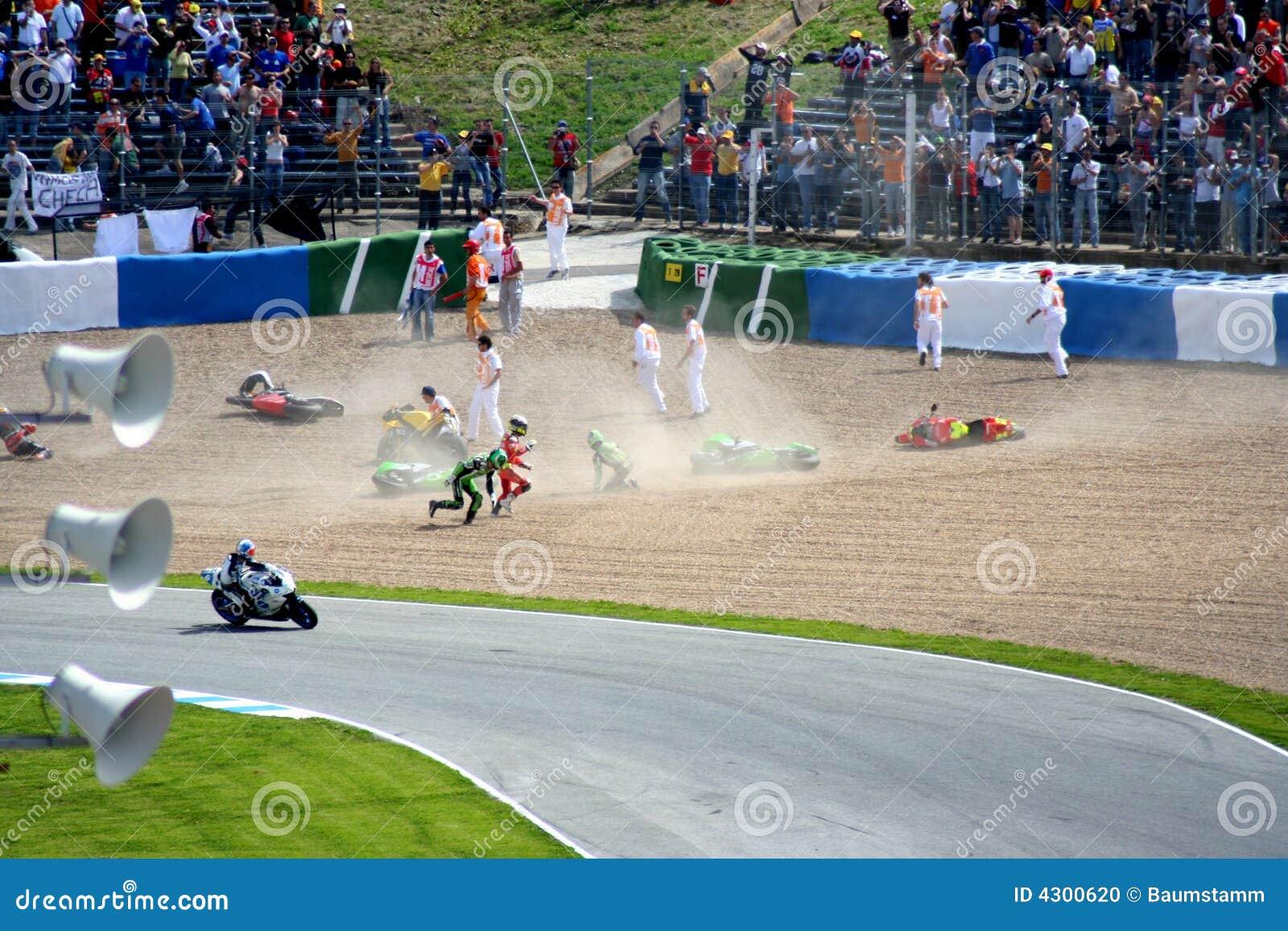 Jerez problem som kvalificerar racen