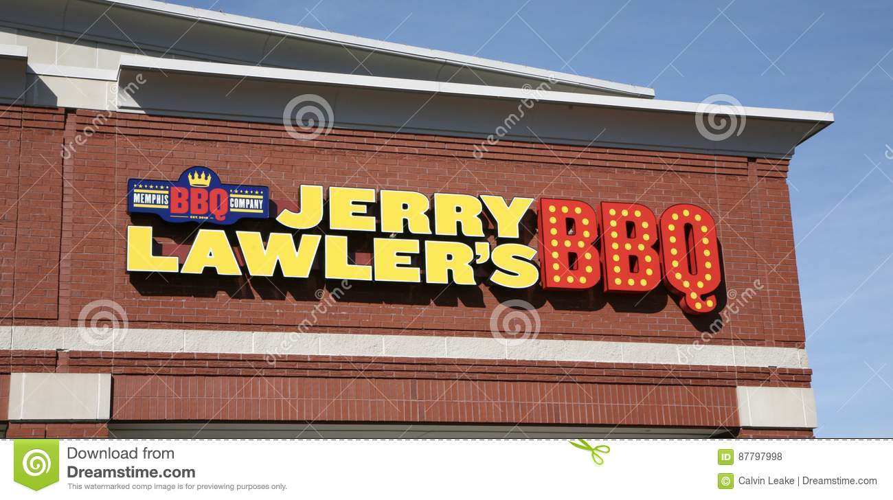 Jerry Lawler S Barbecue Restaurant Sign Editorial Stock