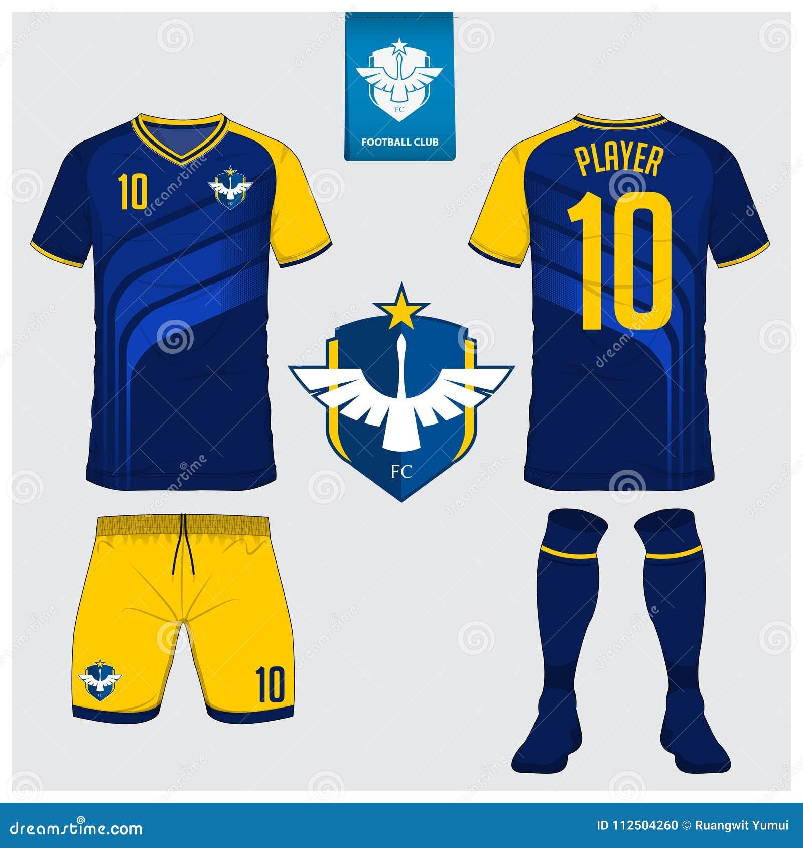 Jersey De Fútbol O Plantilla Del Equipo Del Fútbol Para El Club Del ... f15ce5507ce5b