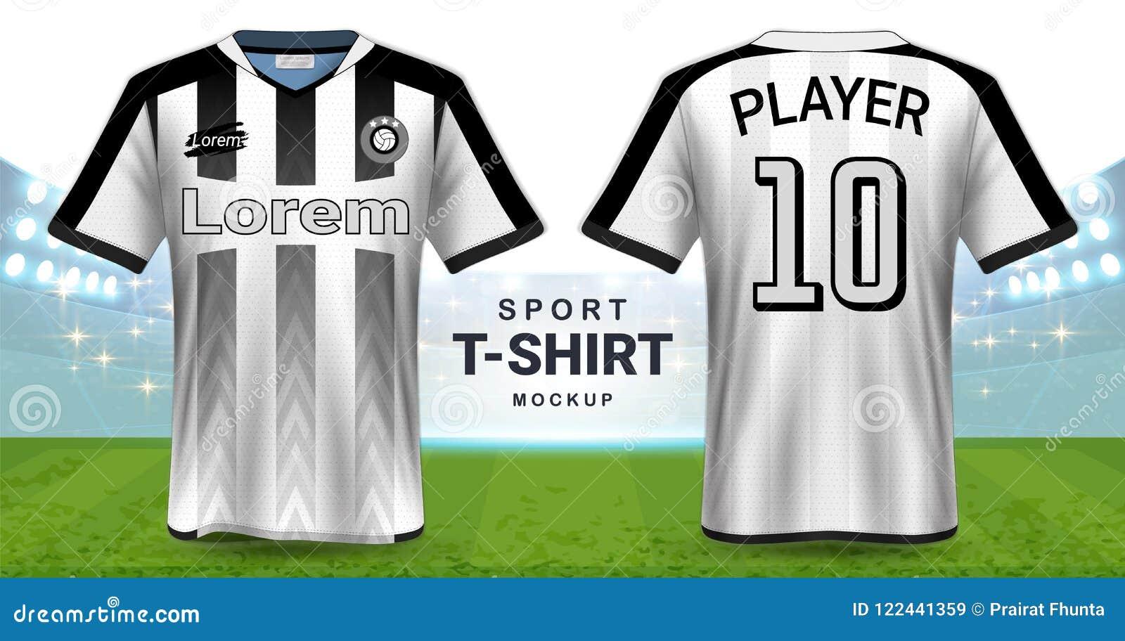 Jersey de fútbol y plantilla de la maqueta de la camiseta del deporte 544ef0b81b565