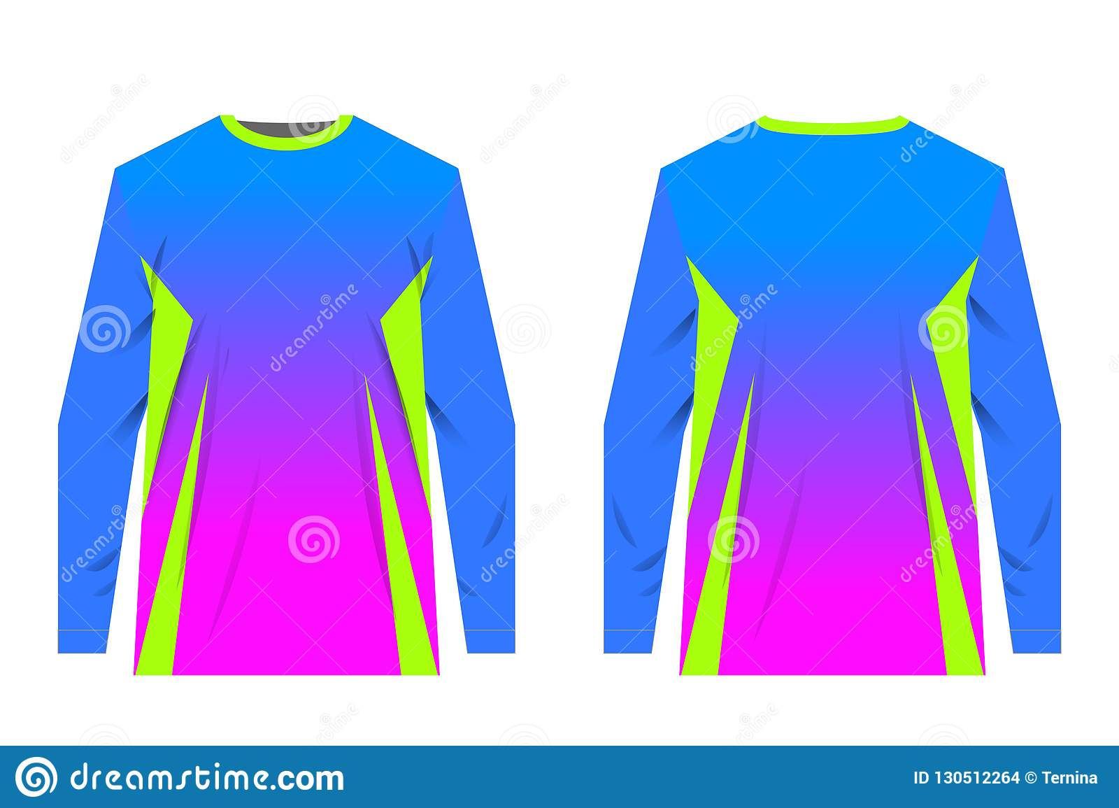 Jersey Design Templates Stock Vector Illustration Of Sublimation