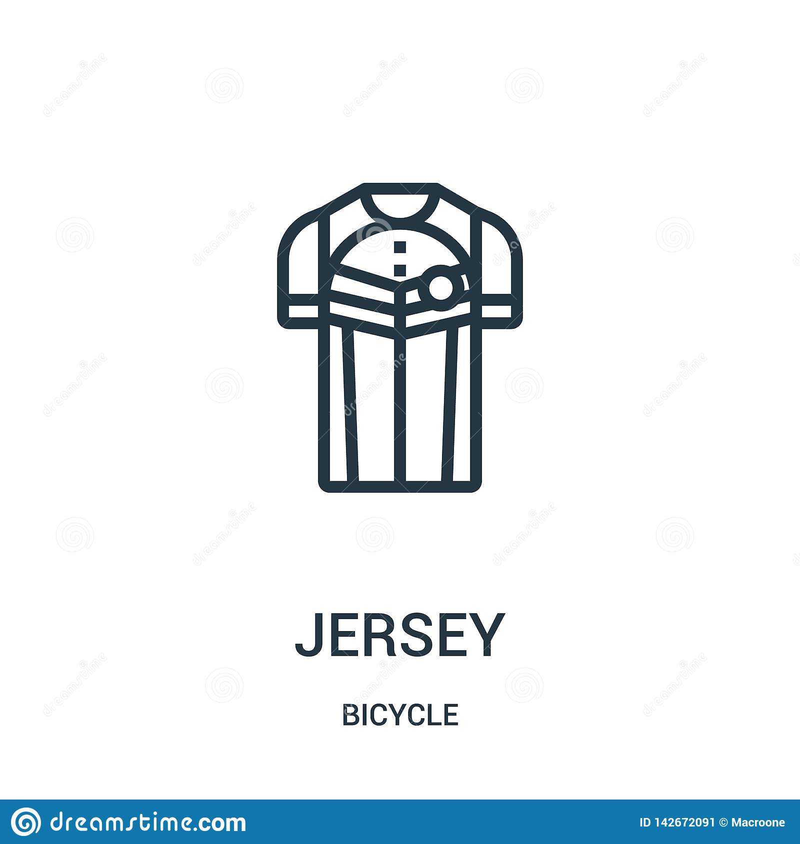 Jersey Icon Vector From Bicycle Collection  Thin Line Jersey