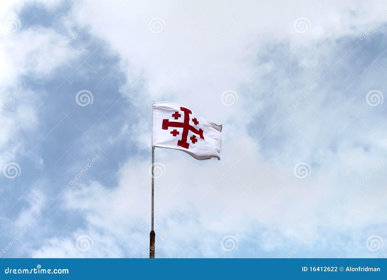 Jerusalem Cross Flag stock photo  Image of religion