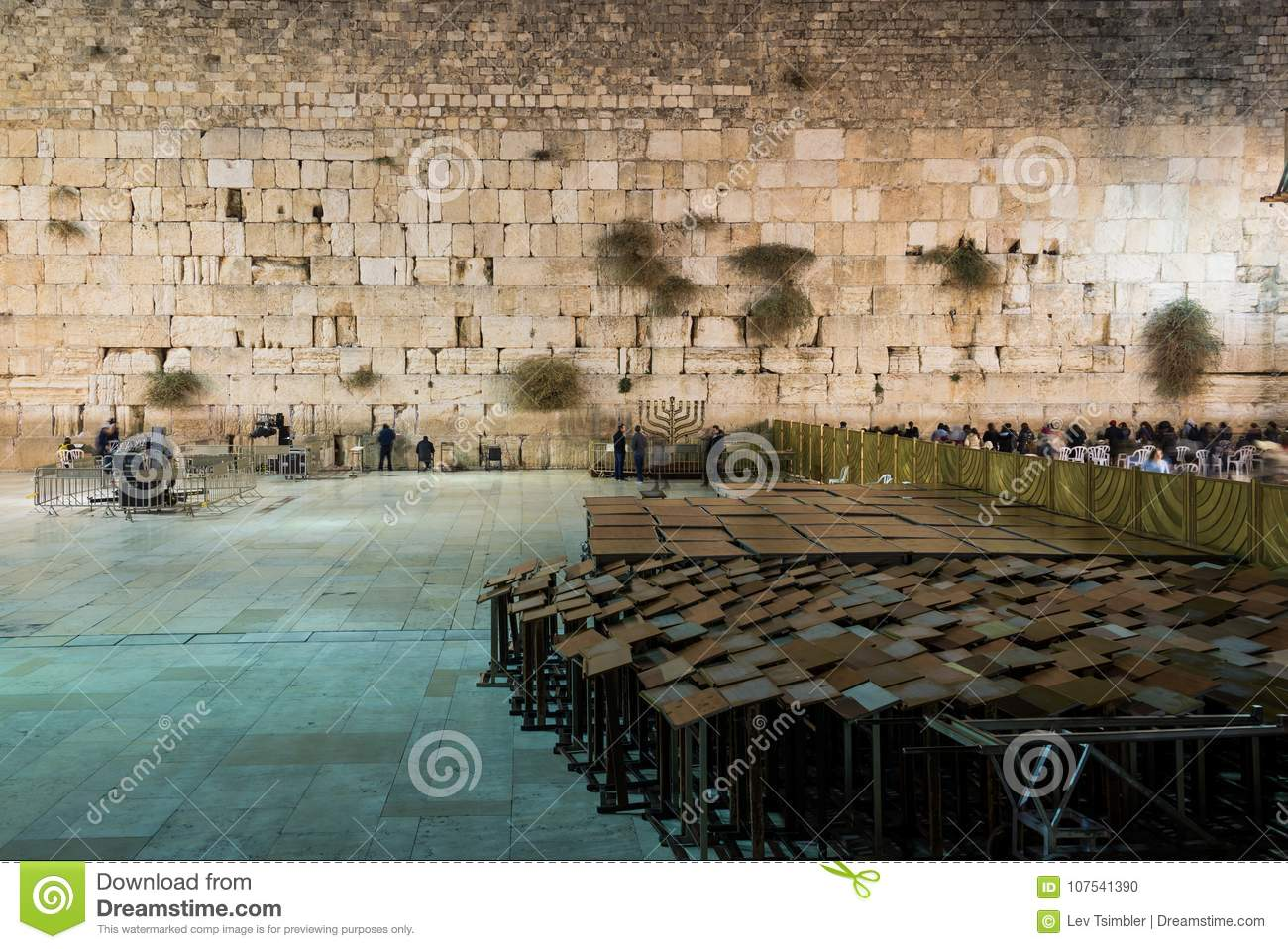 Jerusalem Hanukkah Western Wall Tunnels Tour Editorial Image