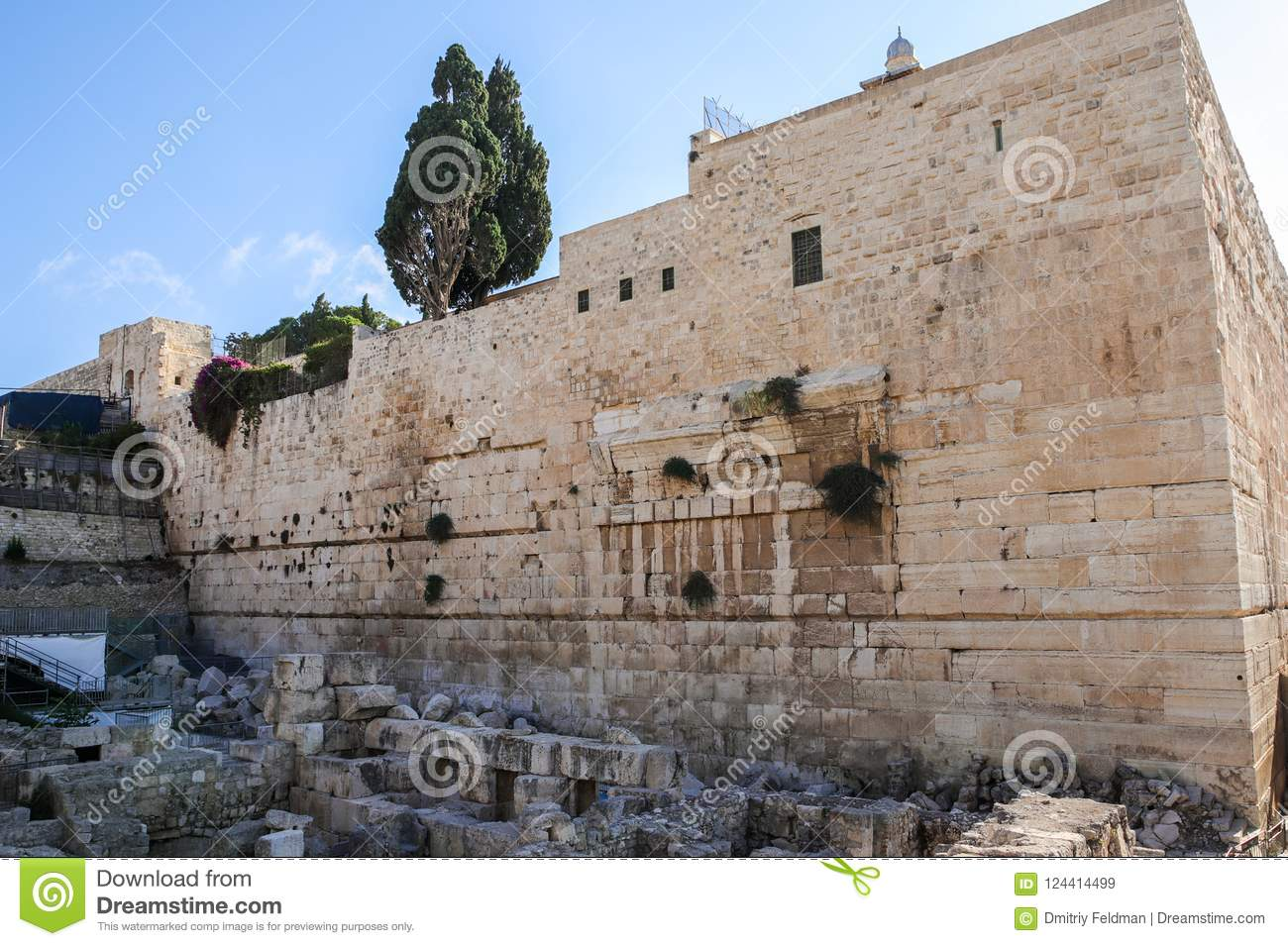 Early Morning View Of Excavations Near The Western Wall In