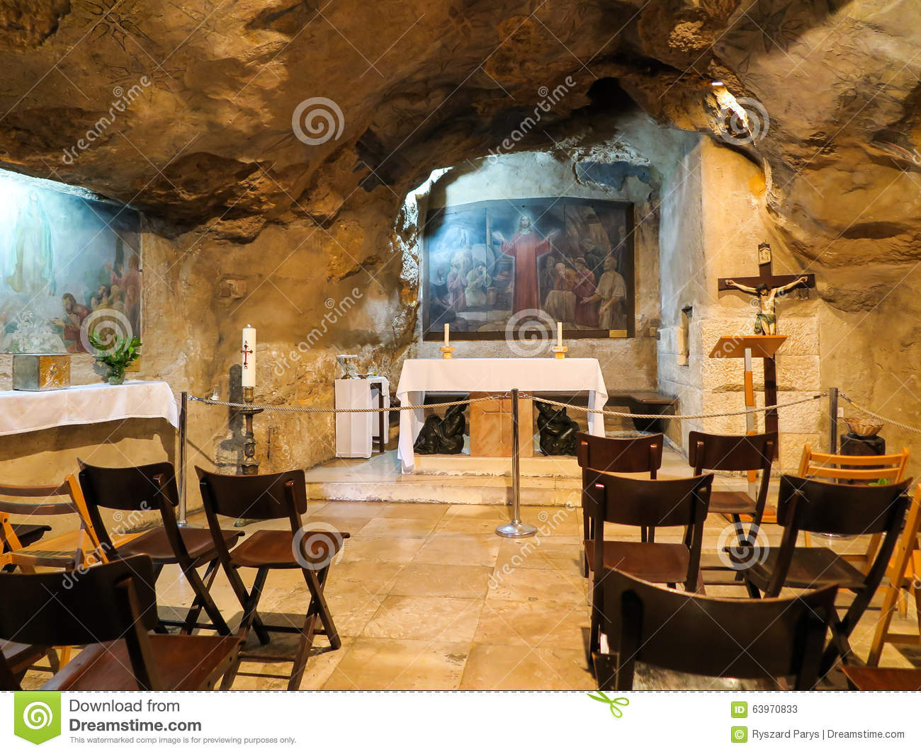 interior view photography. Unique Interior JERUSALEM ISRAEL  JULY 13 2015 Interior View Of Grotto Gethsemane  Chapel Located In Natural Cave Near The Tomb Virgin Mary Throughout View Photography