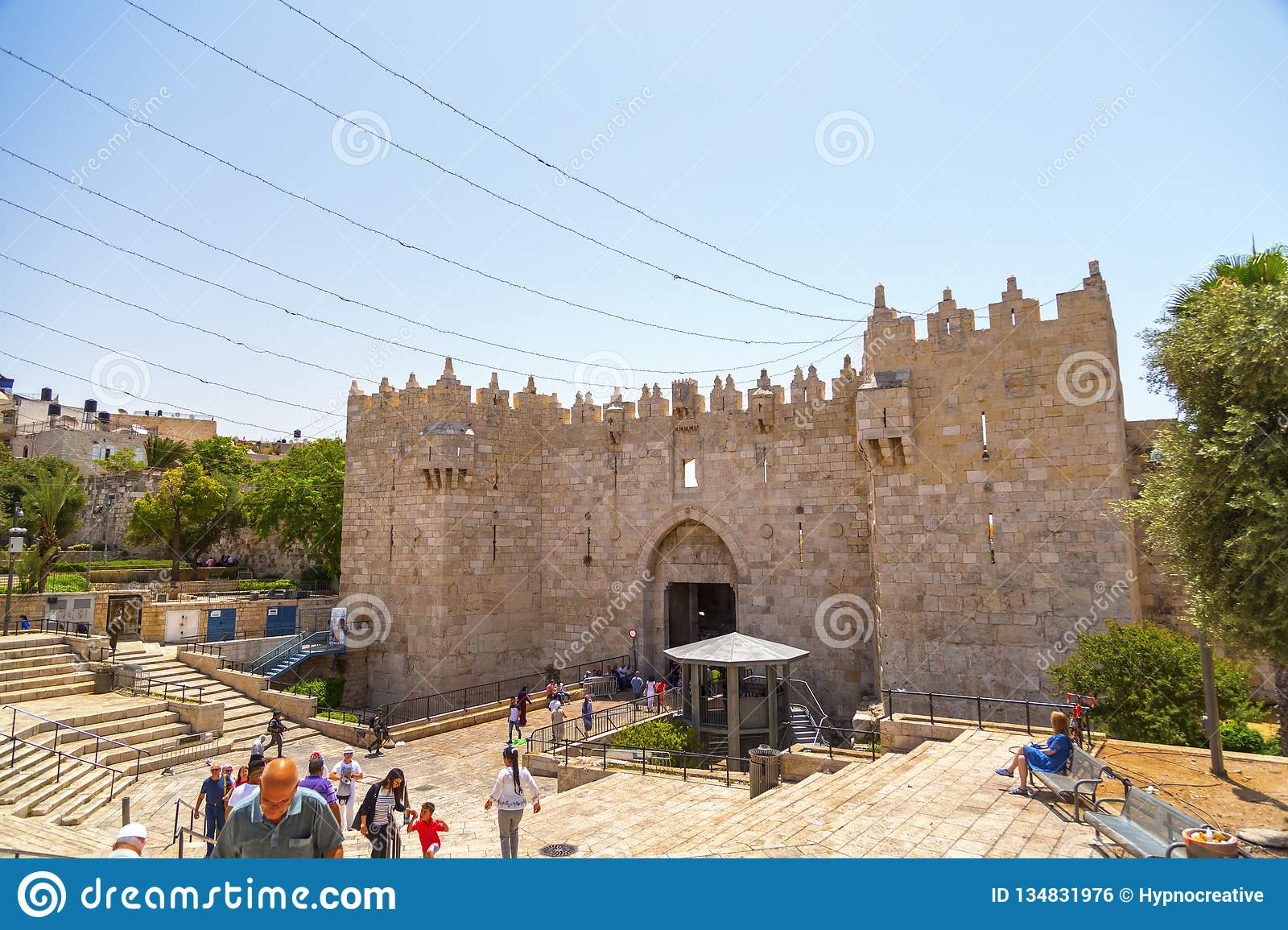 Old City Of Jerusalem, View From The Famous Damascus Gate