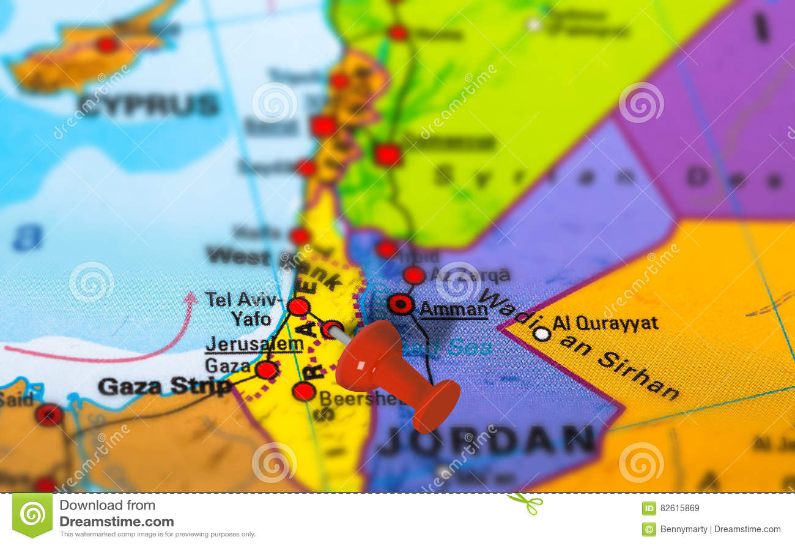 Jerusalem Israel map stock image. Image of geography - 82615869