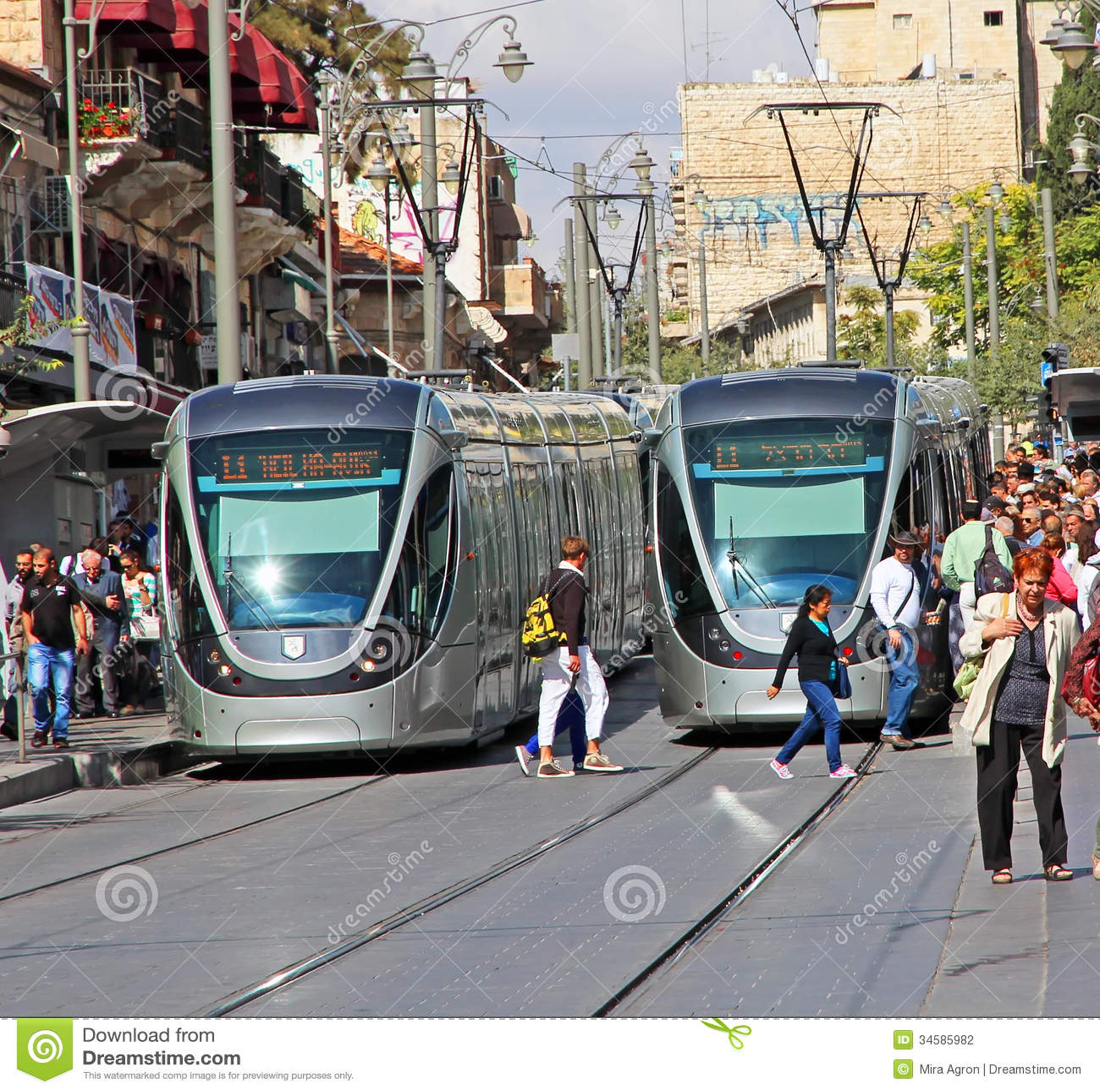 Light Rails: Jerusalem Light Rail Editorial Photography. Image Of
