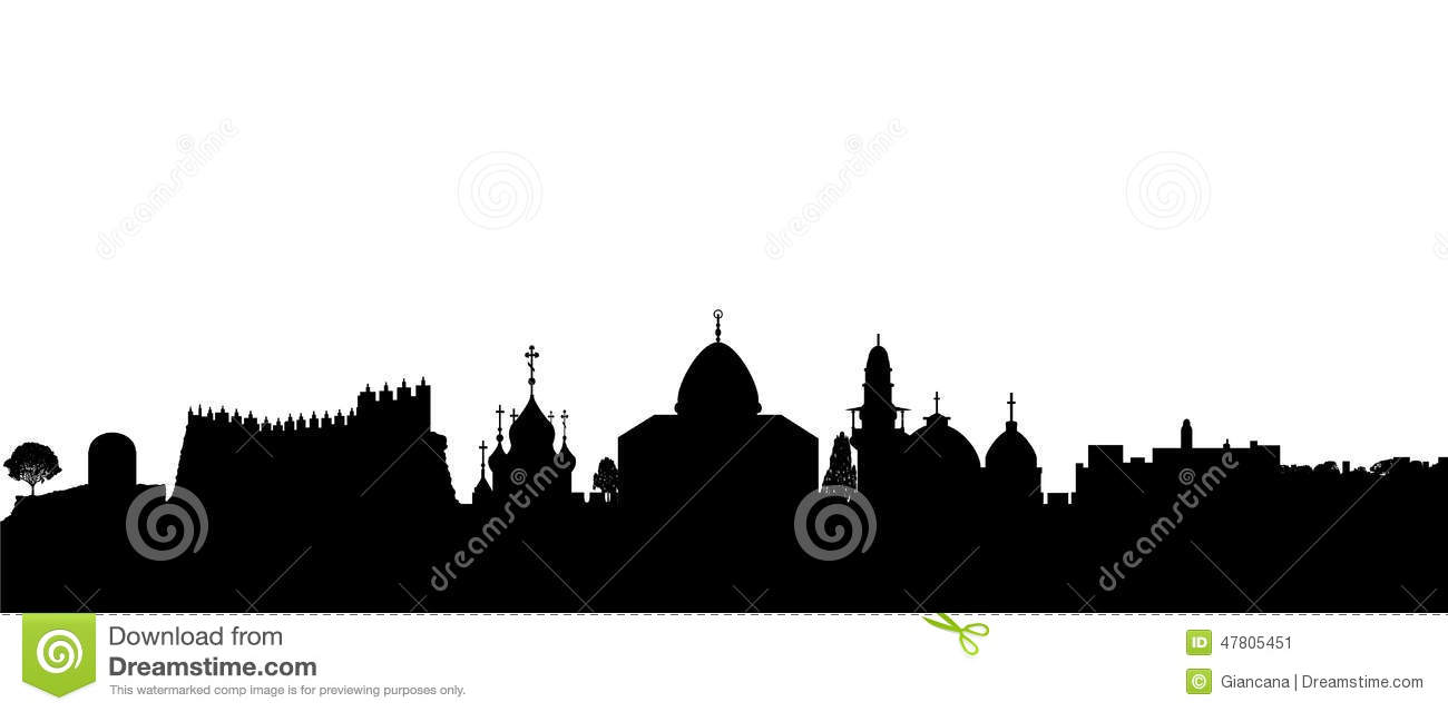 Jerusalem Silhouette Vector Stock Vector - Image: 47805451