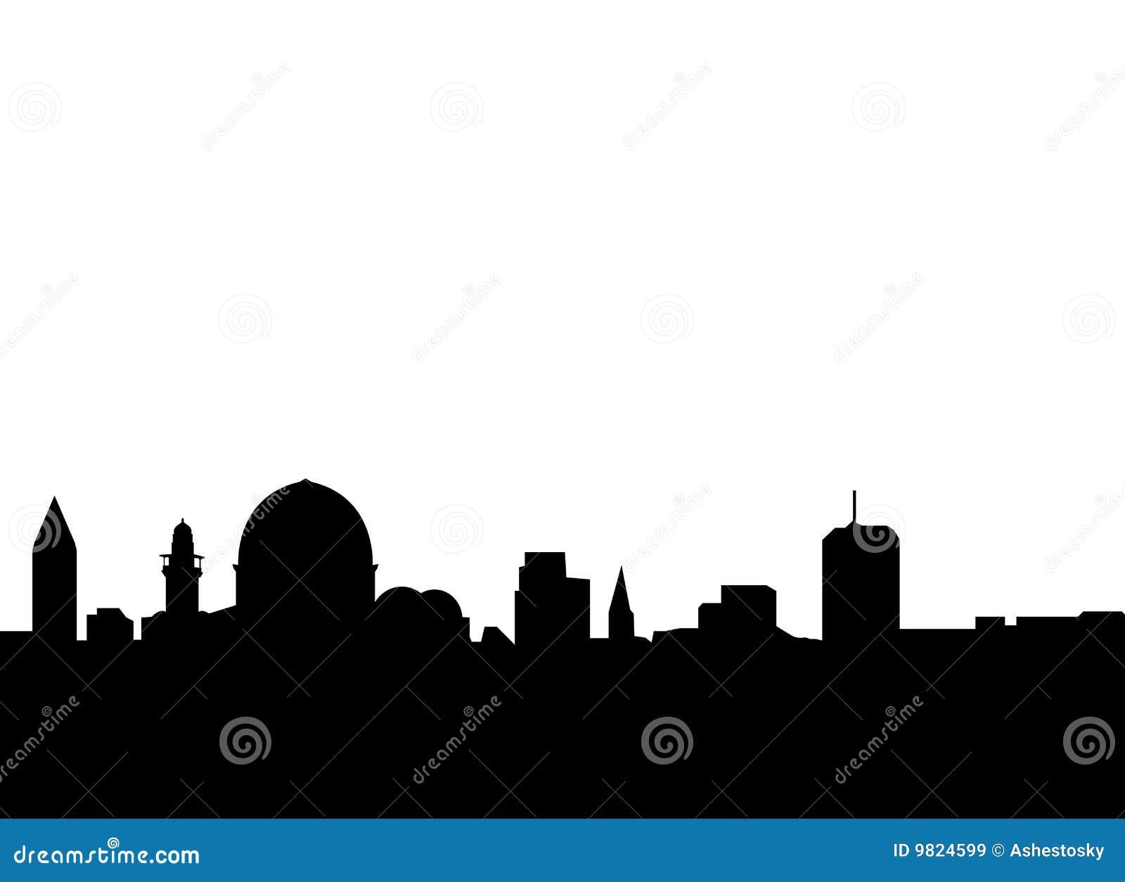 Royalty Free Stock Images Jerusalem Skyline Vector Image9824599