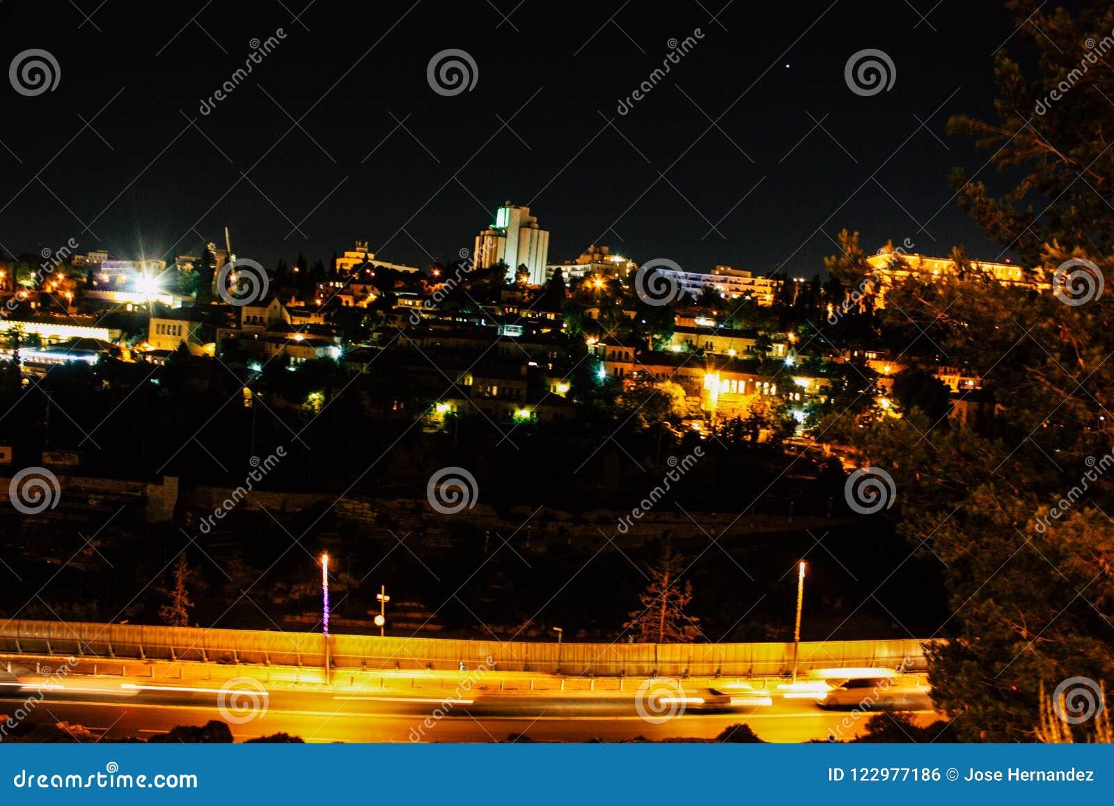 Jerusalem vid natt