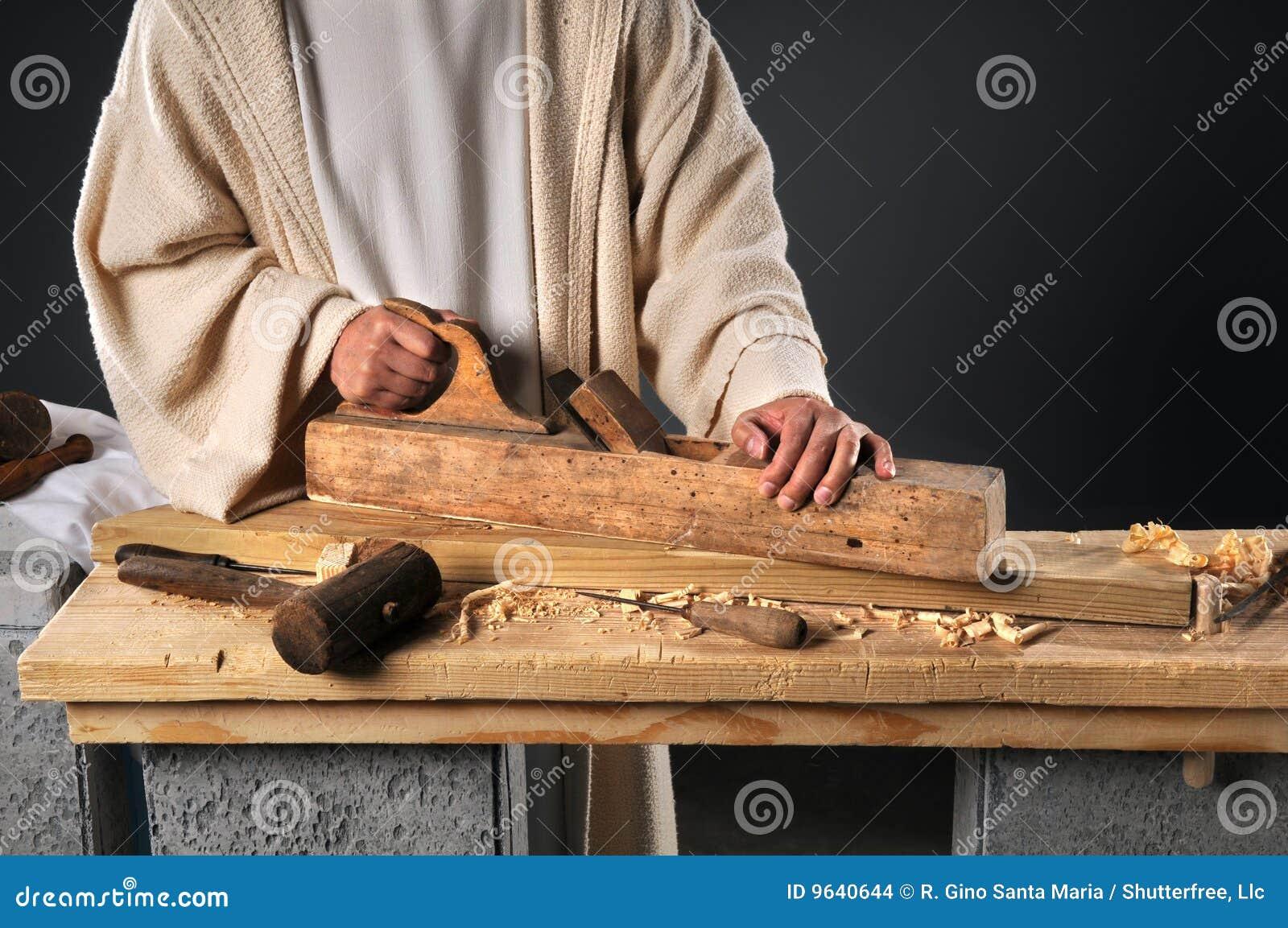 Jesús con el plano de madera