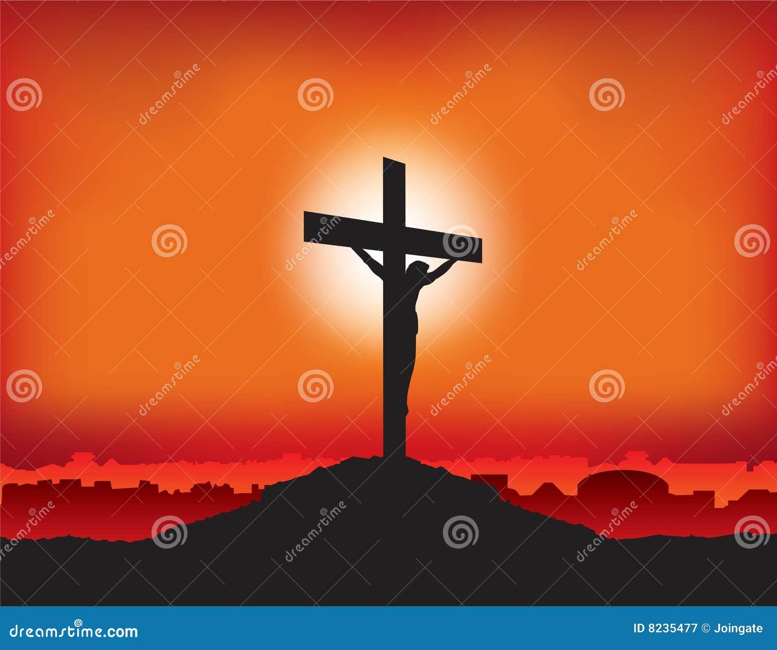 Jesús crucificó en la cruz