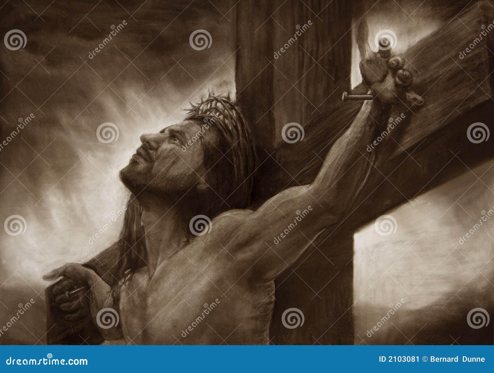 Jesús en el calvary cruzado
