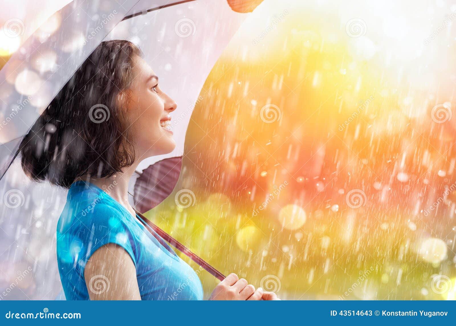 Jesień deszcz