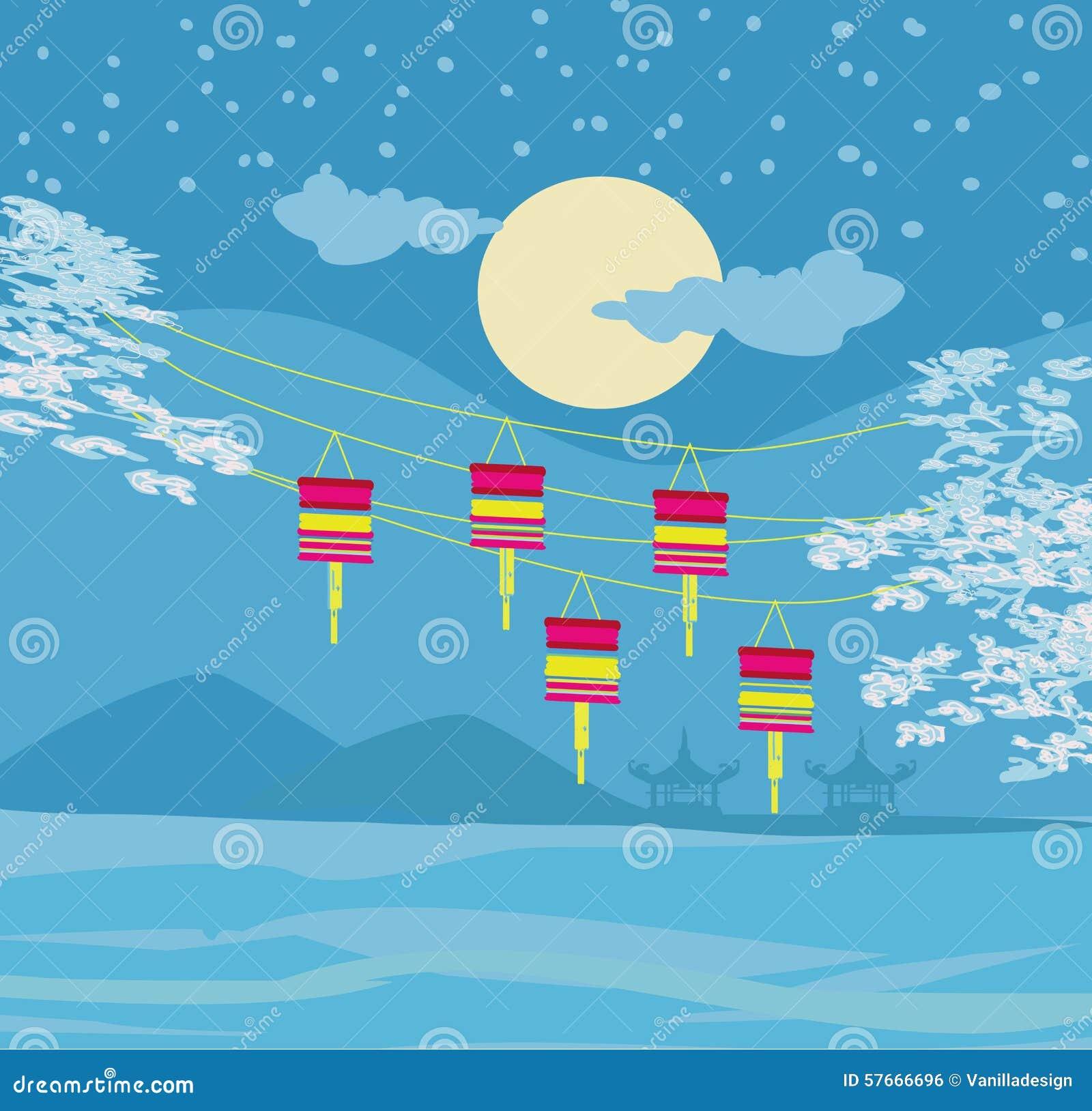 Jesień festiwal dla Chińskiego nowego roku