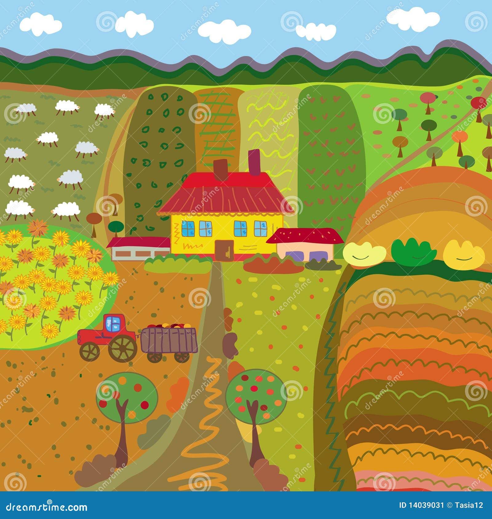 Jesień gospodarstwo rolne