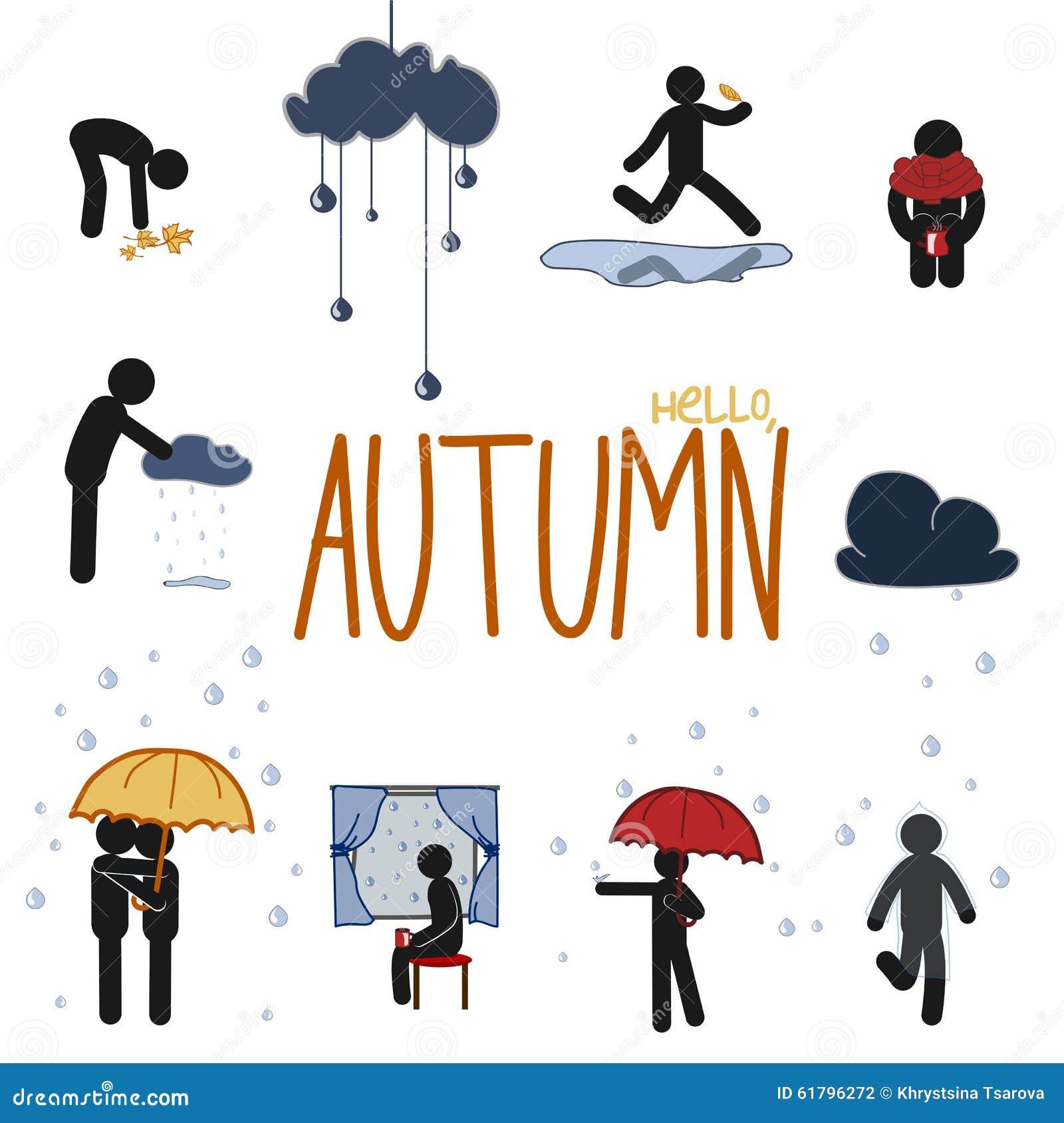 Jesień kija mężczyzna set