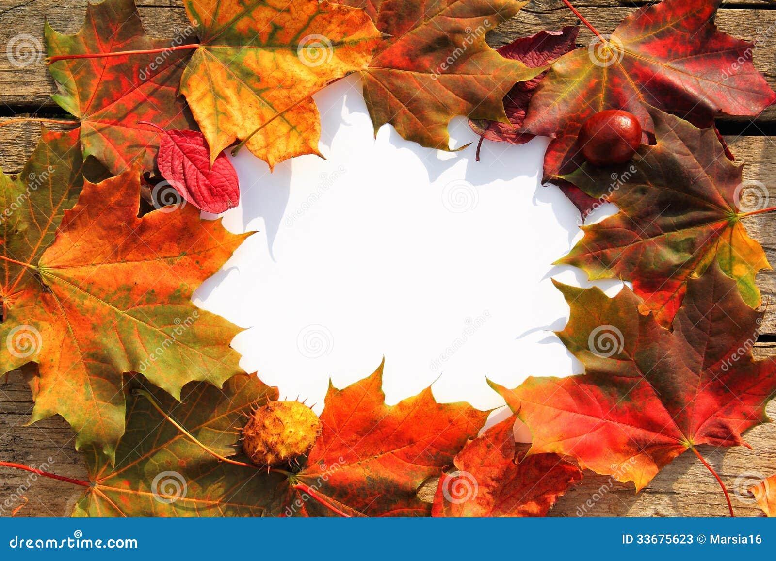 Jesień liści rama