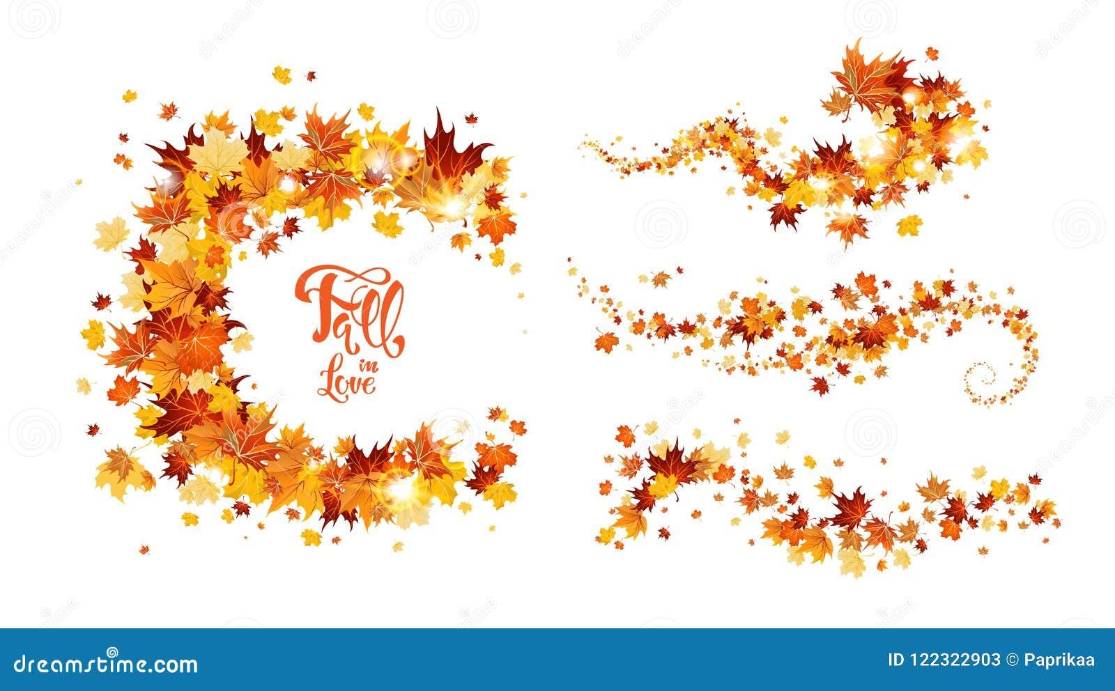 Jesień liści zawijas