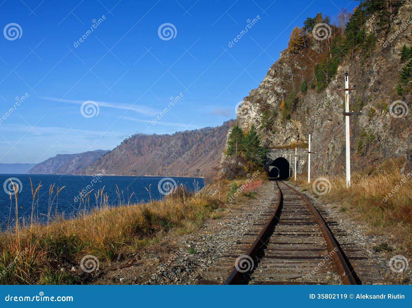 Jesień na Baikal kolei